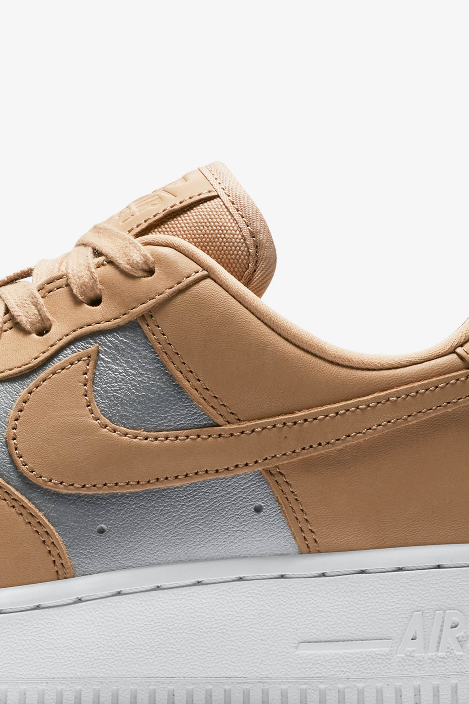 Nike Women s Air Force 1  Bio Beige   Metallic Silver  Release Date ... 9c5c55daf4
