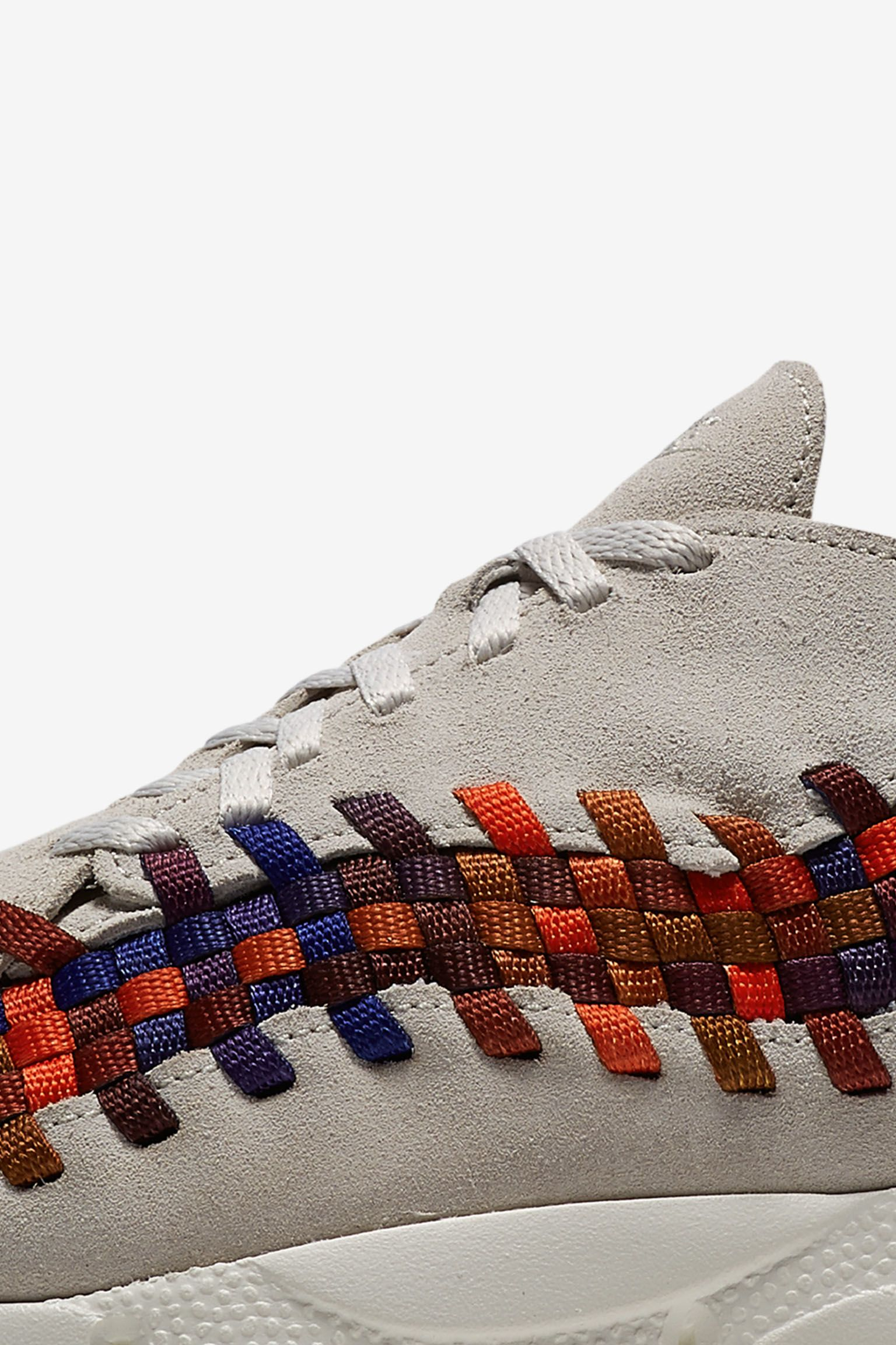 Nike Air Footscape Woven 'White & Rainbow Weave' Release Date