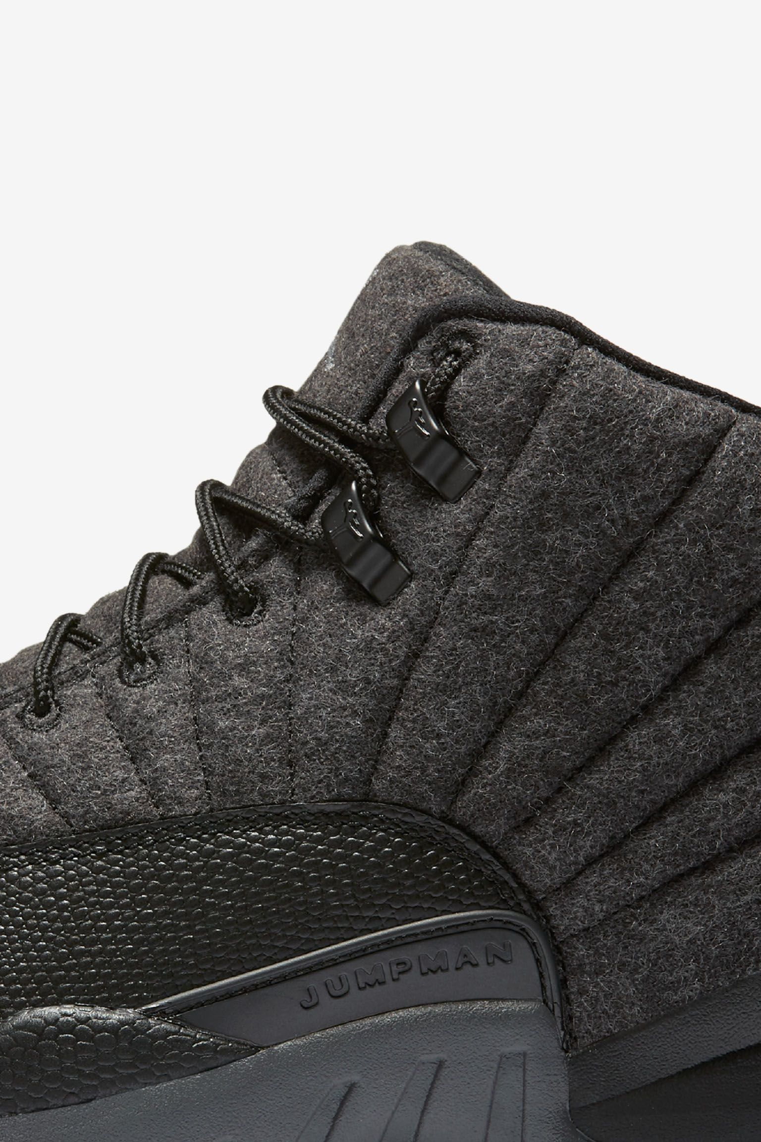 Air Jordan 12 Retro Wool 'Dark Grey & Black' Release Date
