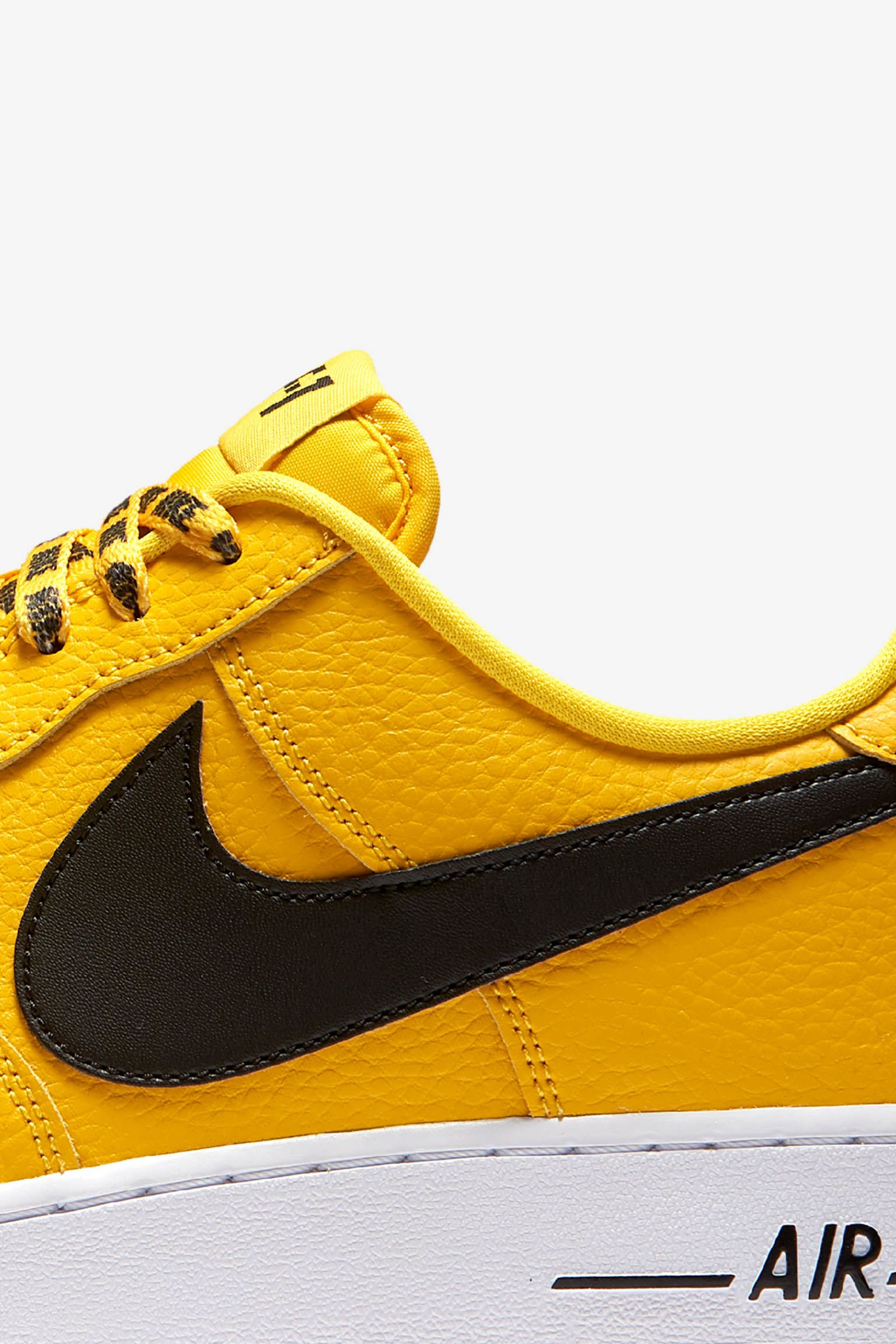 Nike AF-1 Low NBA 'Amarillo & Black & White' Release Date