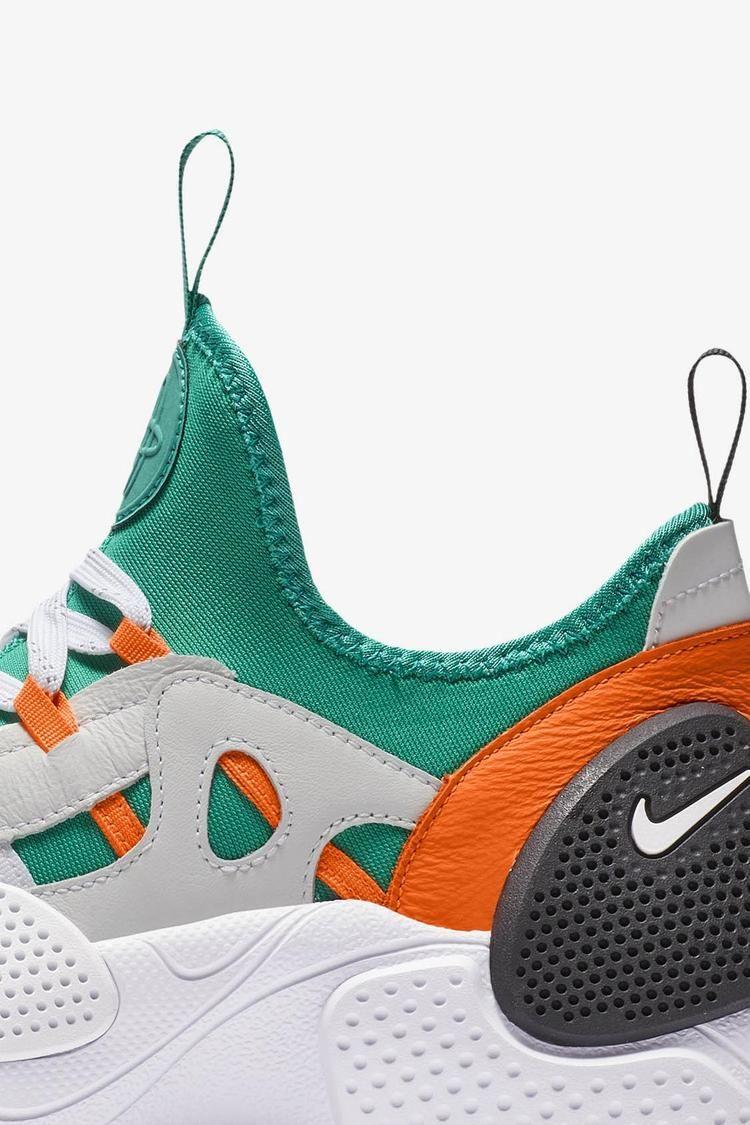 Nike Huarache E.D.G.E. TXT QS \u0027White \u0026 Clear Emerald \u0026 Total Orange\u0027