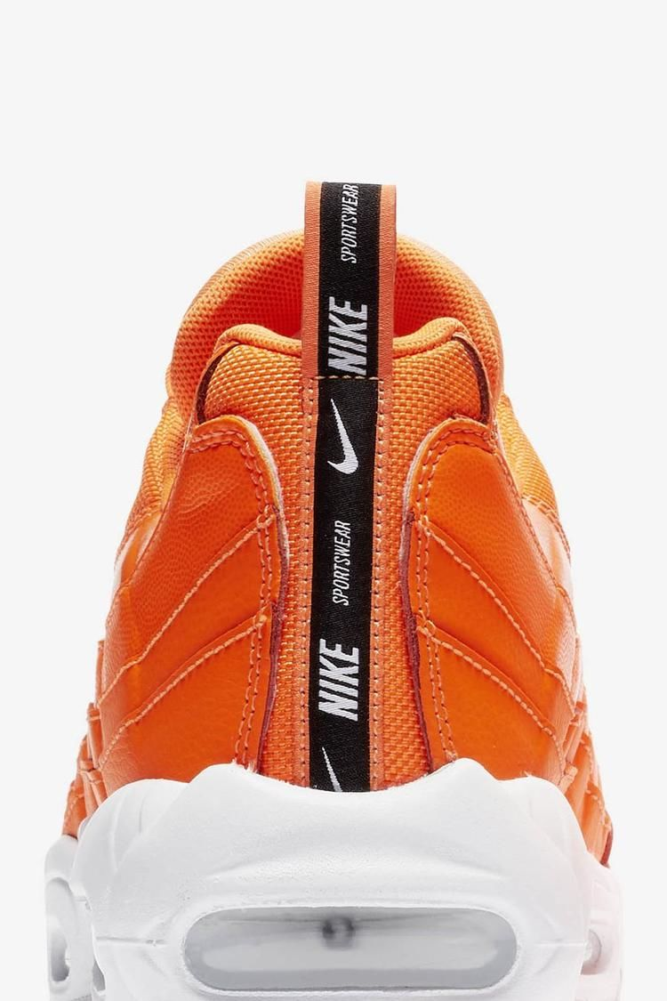 Nike Air Max 95 Premium 'Total Orange & White & Black' Release Date