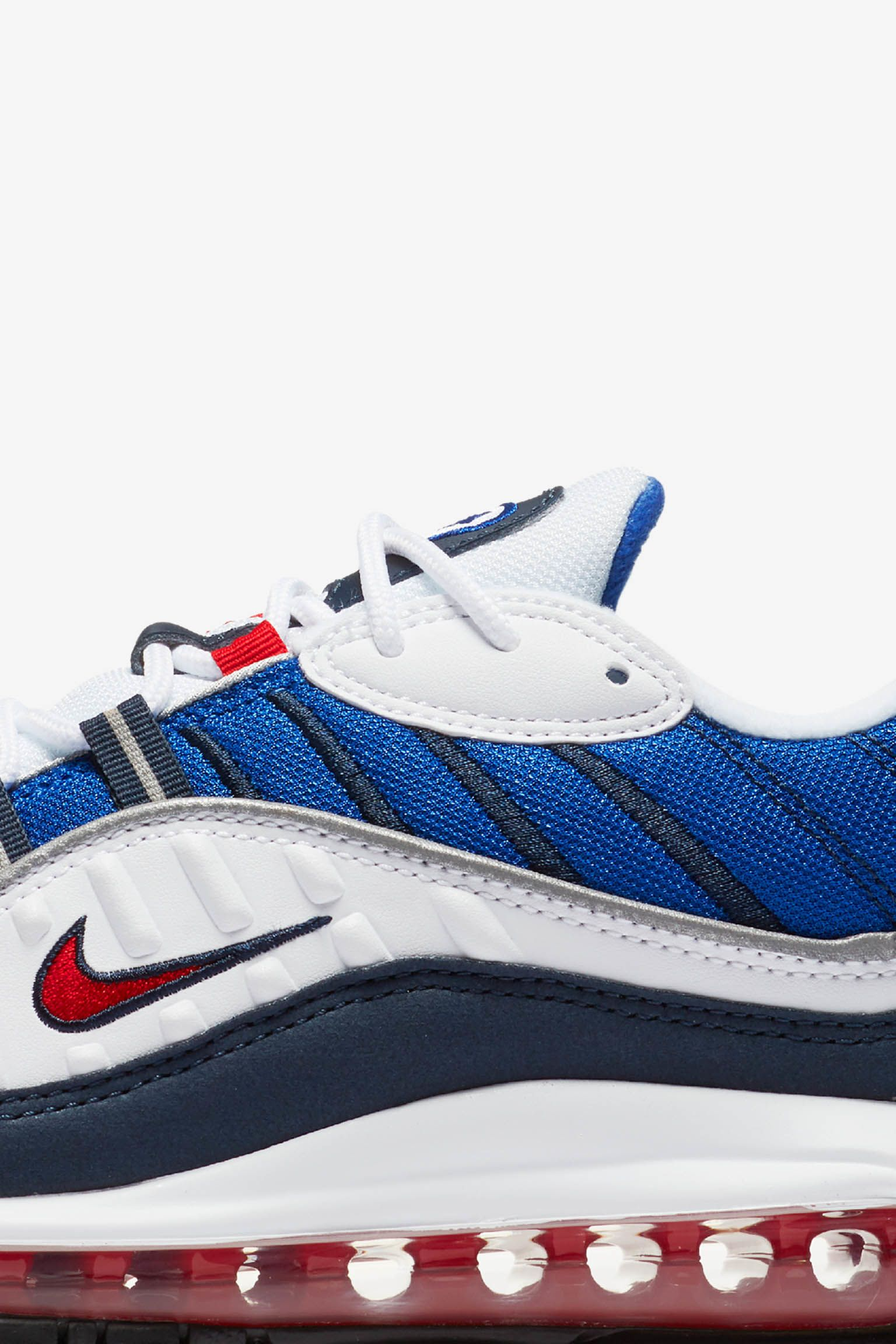 Nike Air Max 98 'White & University Red & Royal Blue' Release Date