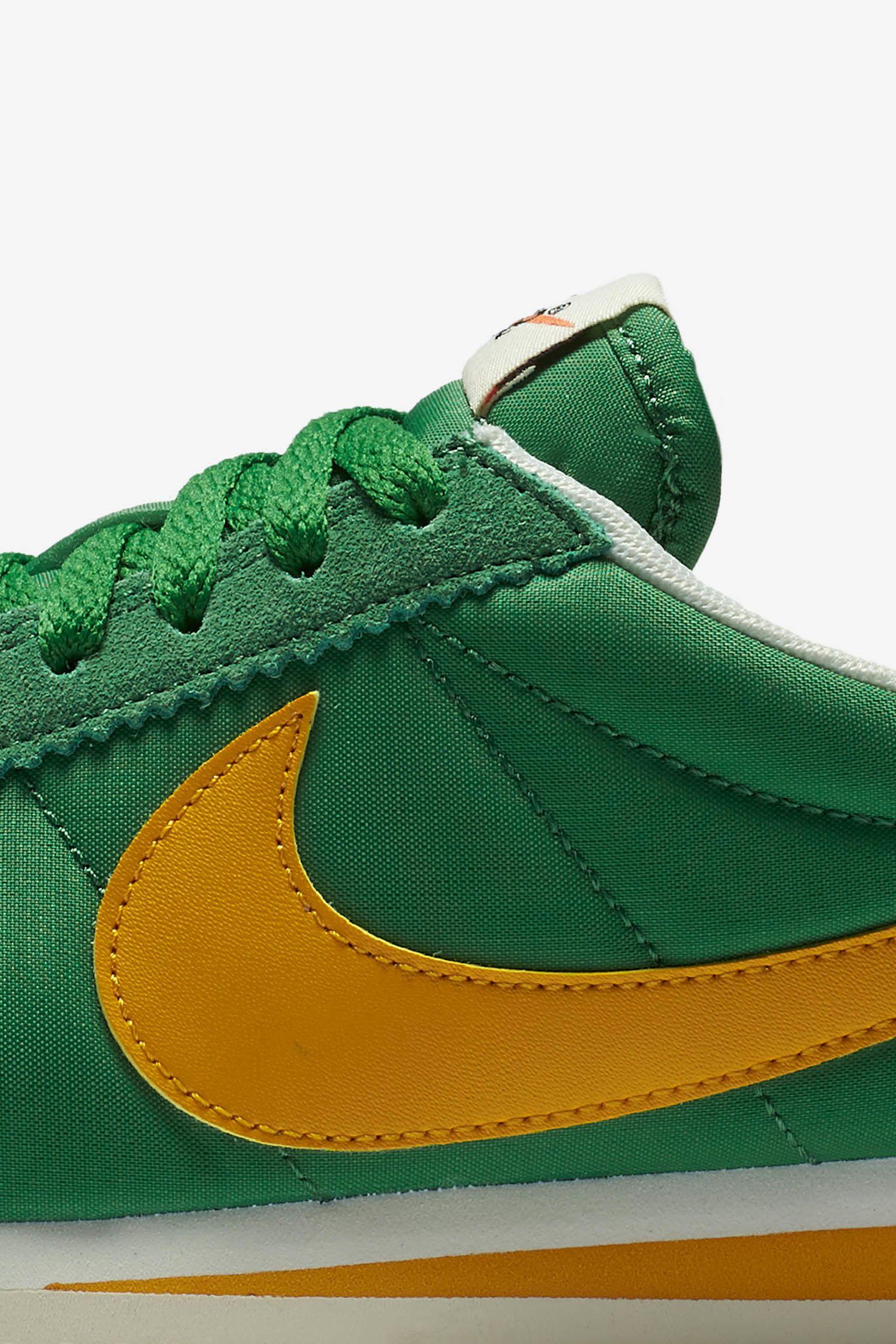 Women's Nike Classic Cortez Premium 'Classic Green & Yellow Ochre' Release Date