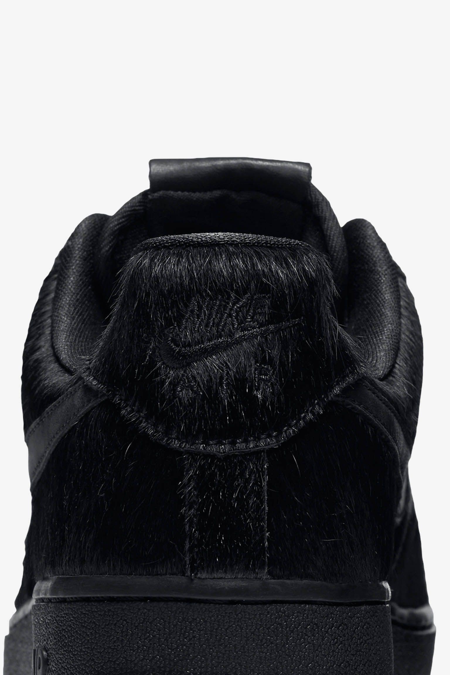 Women's Nike Air Force 1 Low 07 Premium 'Triple Black' 2016