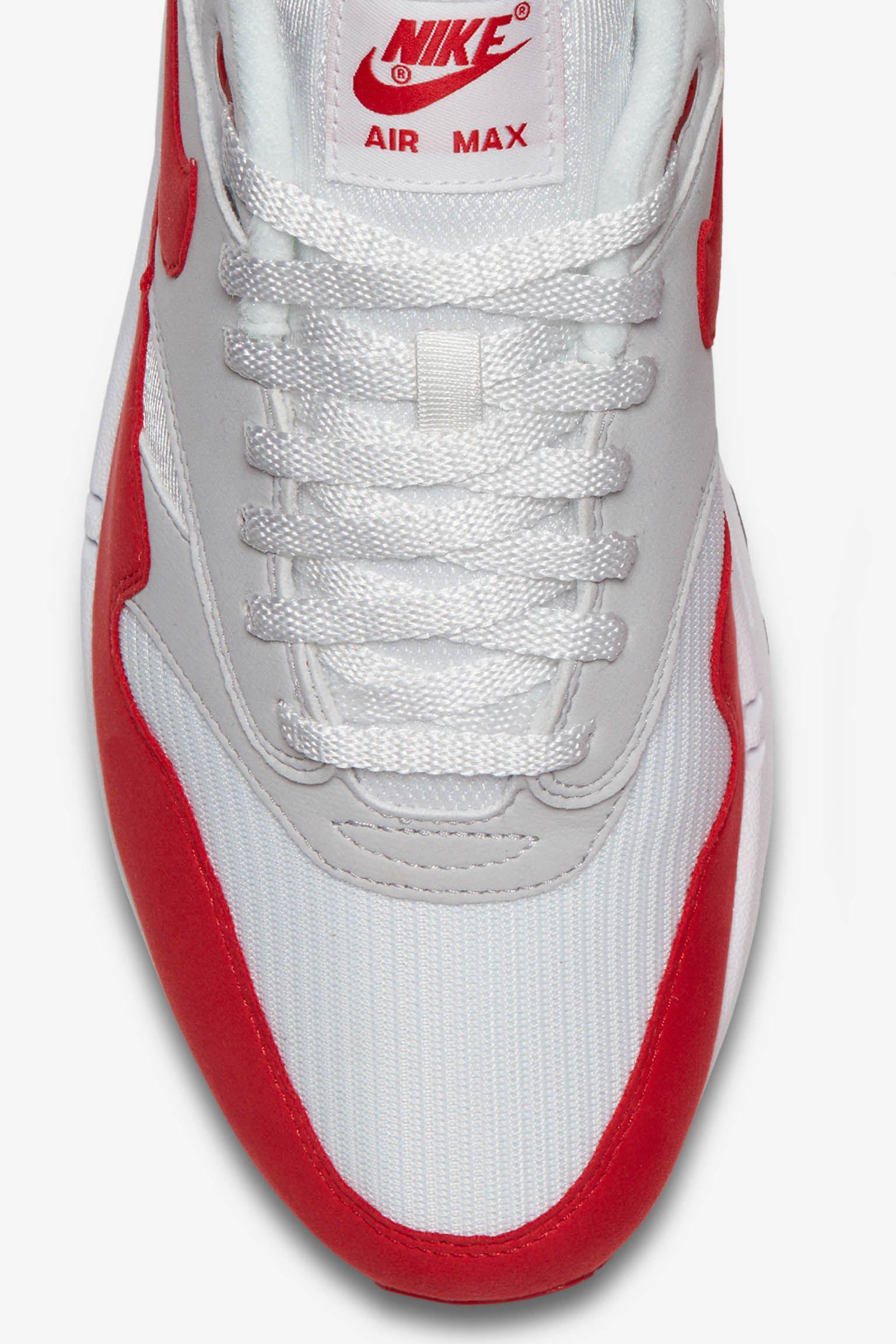 Nike Air Max 1 Anniversary 'White & University Red'
