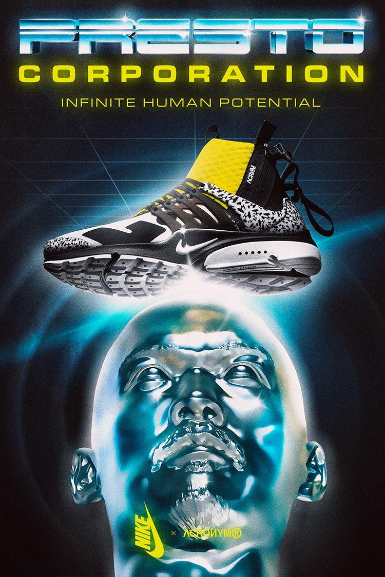 Air Presto Mid Utility X Acronym 'White & Black & Dynamic Yellow' Release Date