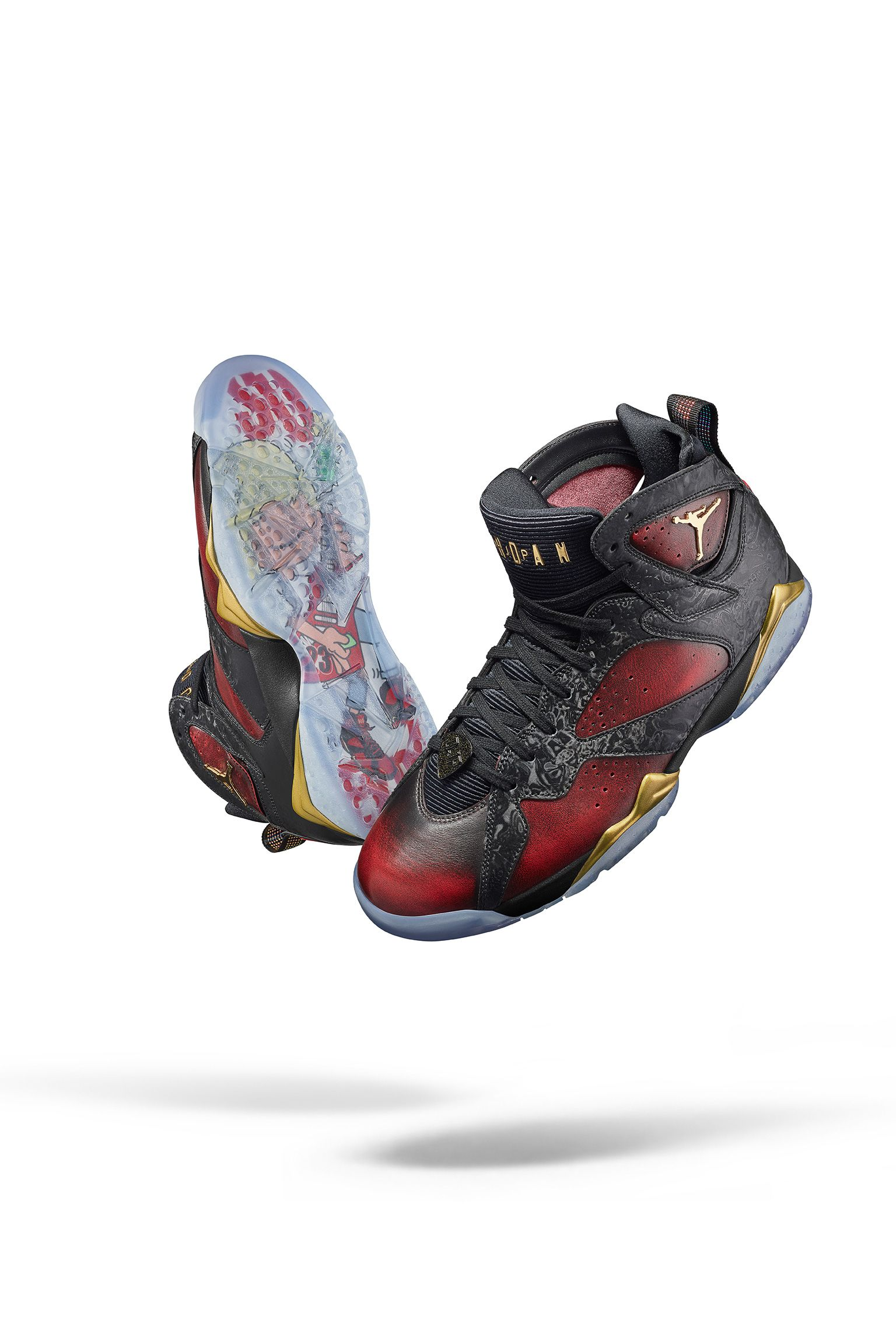 Air Jordan 7 Retro Doernbecher  Black   University Red  Release Date ... 500fd4284