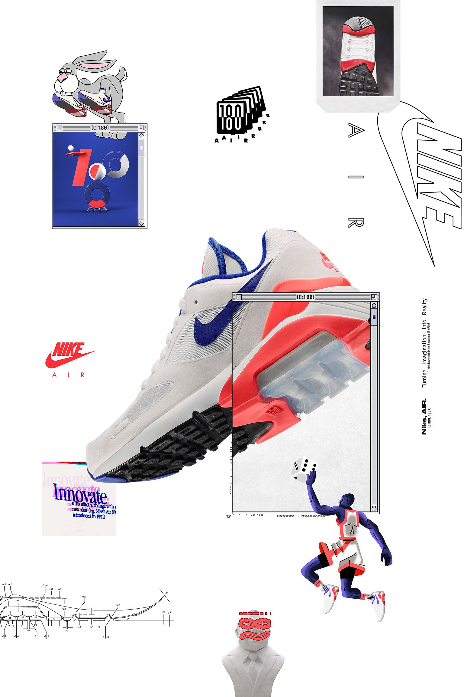 buy popular 81996 fe319 Air Max 180 White amp Ultramarine amp Solar Red Release Date