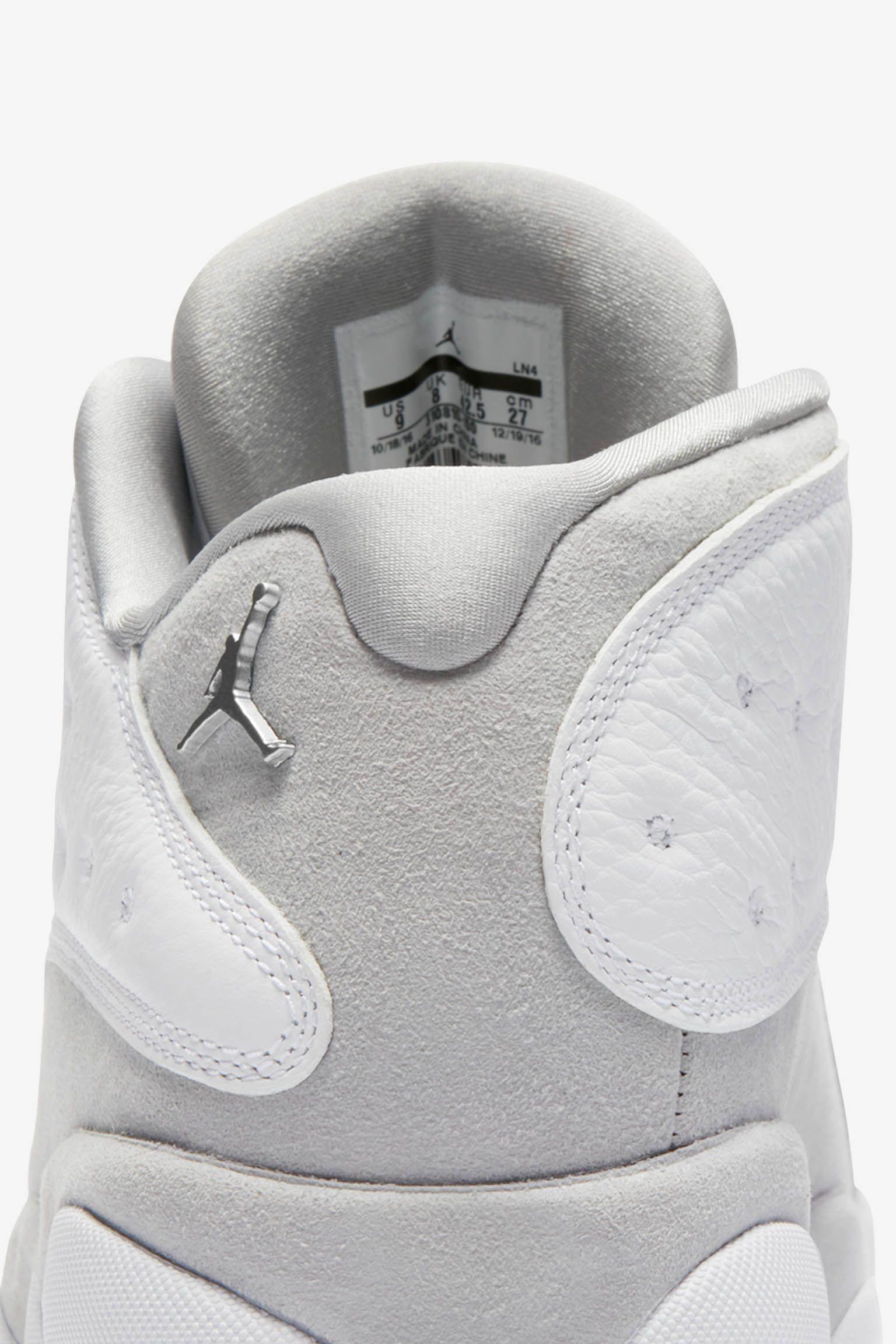 Air Jordan 13 Retro Low 'Pure Platinum & White' Release Date