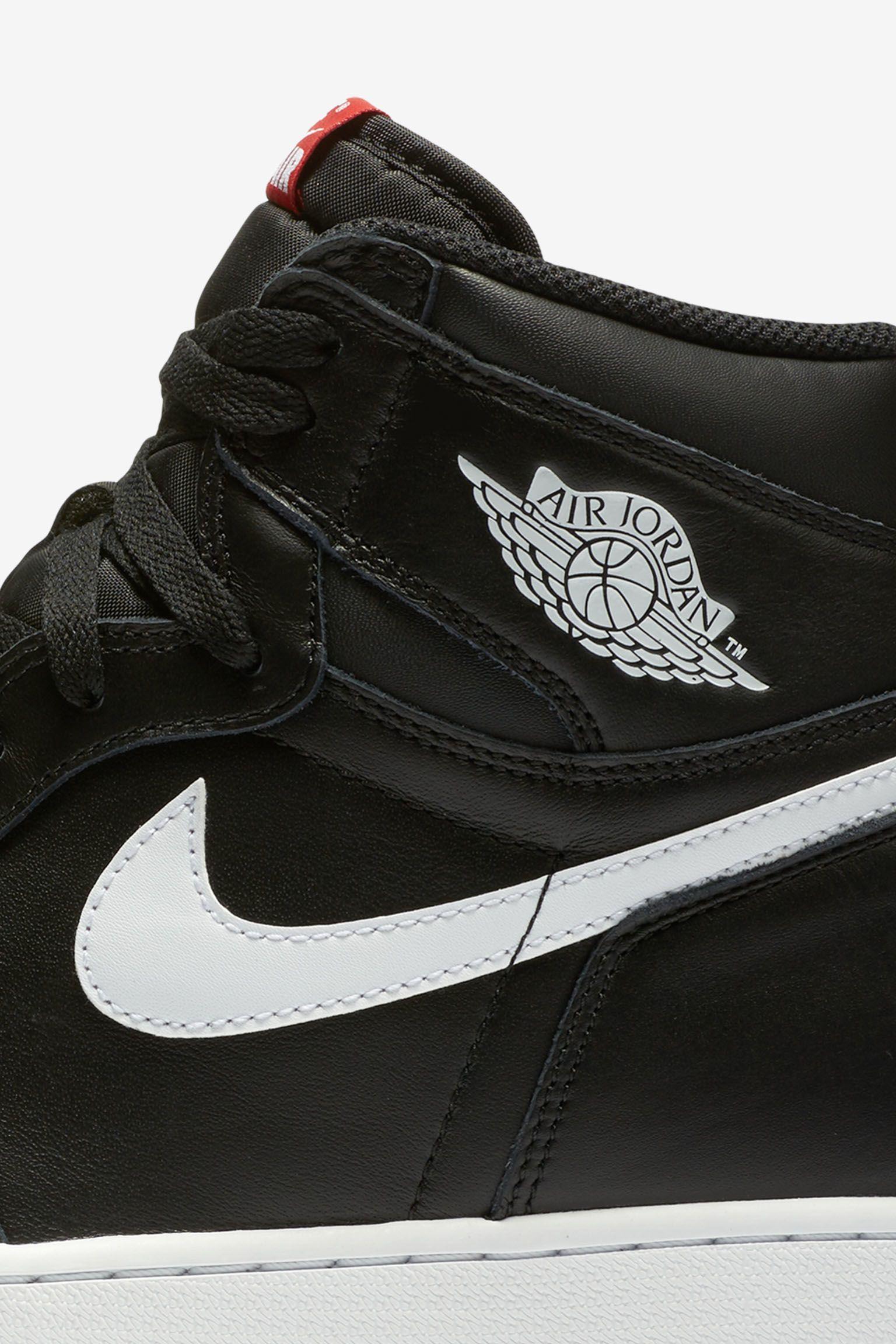 Air Jordan 1 Retro High OG  Black   White  Release Date. Nike+ SNKRS cff43728d99
