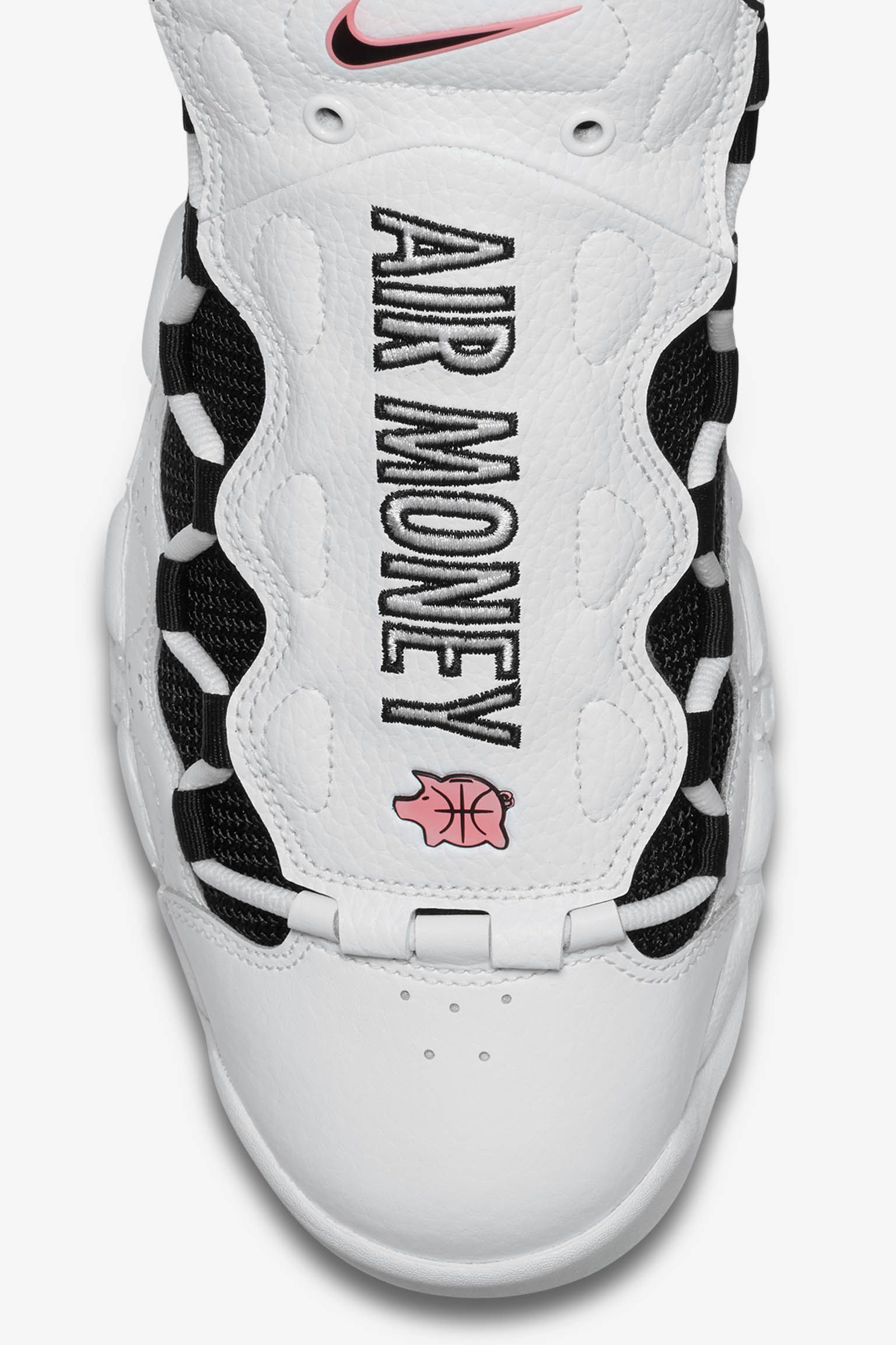 Nike Air More Money 'White & Black & Coral Chalk' Release Date