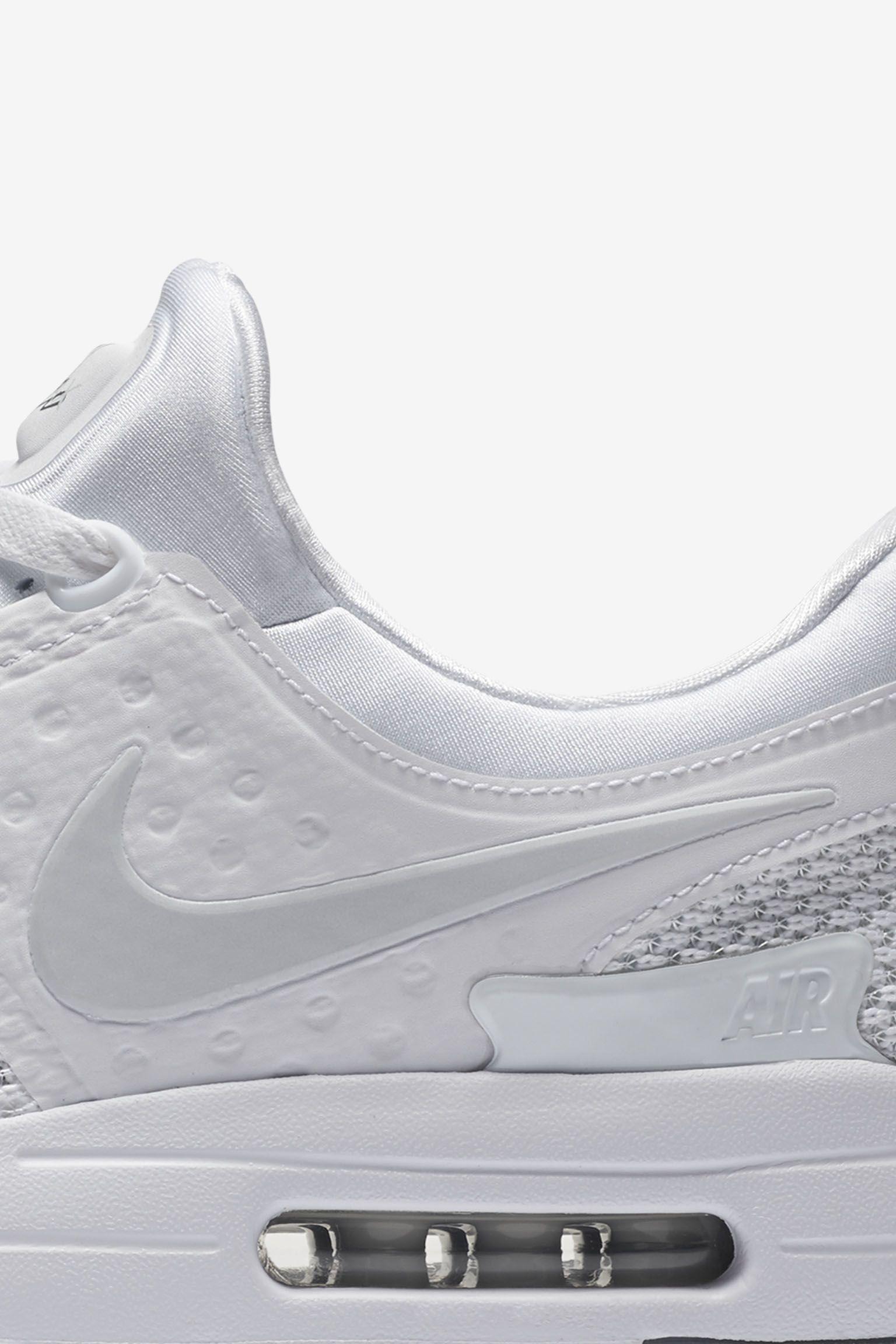 Nike Air Max Zero 'Triple White' Release Date