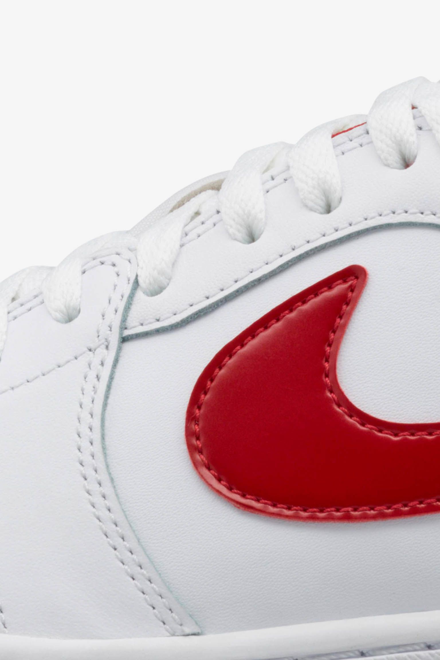 Air Jordan 1 Retro Low 'White & Red' Release Date