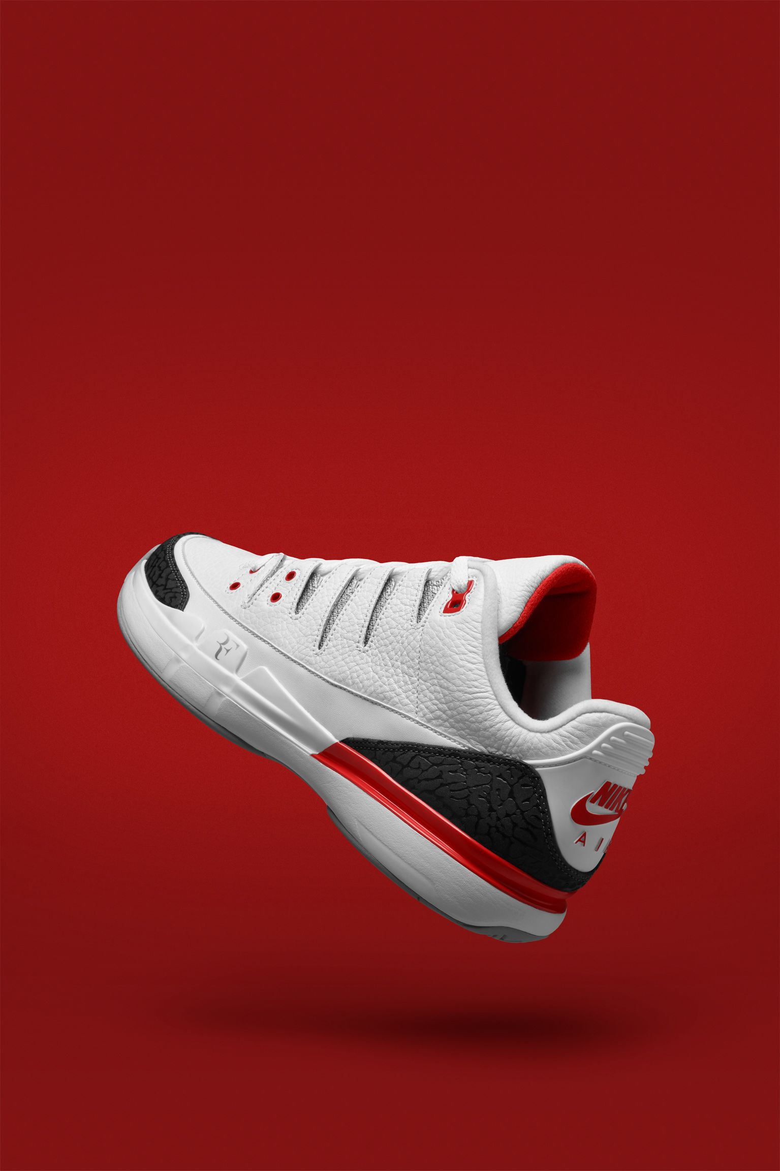 NikeCourt Zoom Vapor RF x AJ3  Fire Red . Nike+ SNKRS 5481cf8cf
