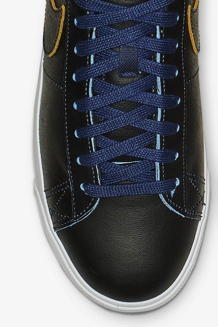 Nike SB Zoom Blazer Low NBA 'Black & Amarillo & Coast' Release Date