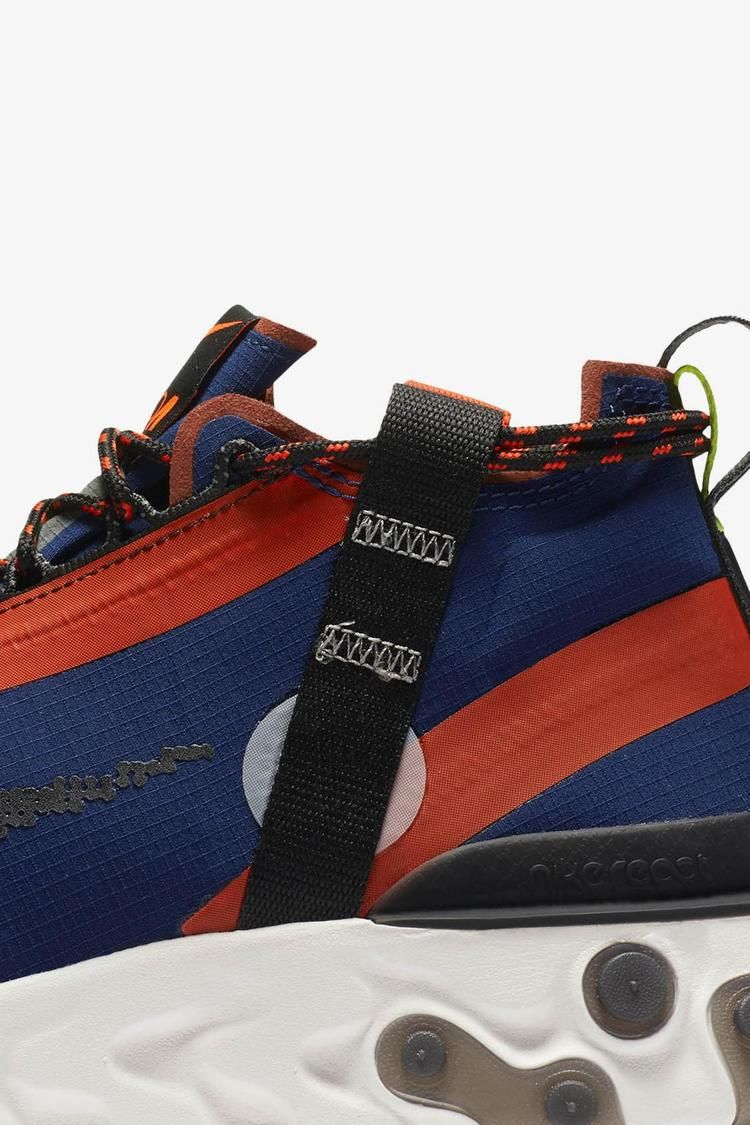 Nike React Runner Mid iSPA 'Blue Void & Team Orange & Phantom' Release Date