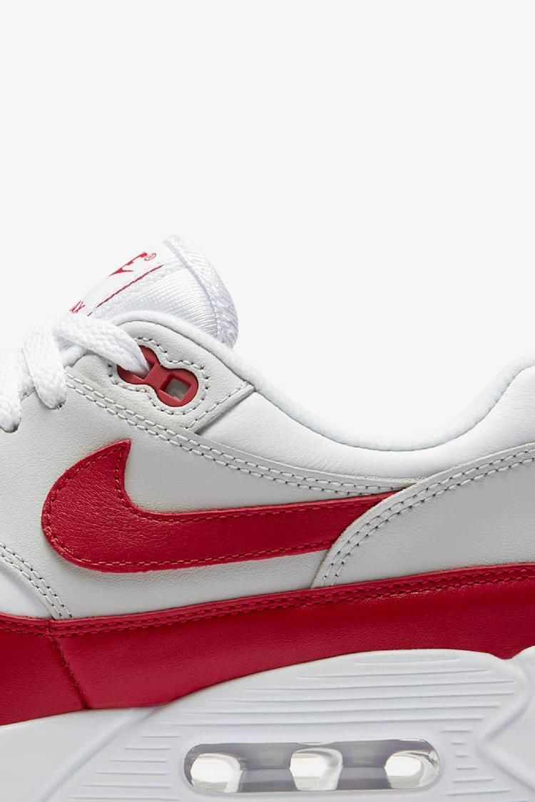 Women's Air Max 90 / 1 'White & University Red' Release Date