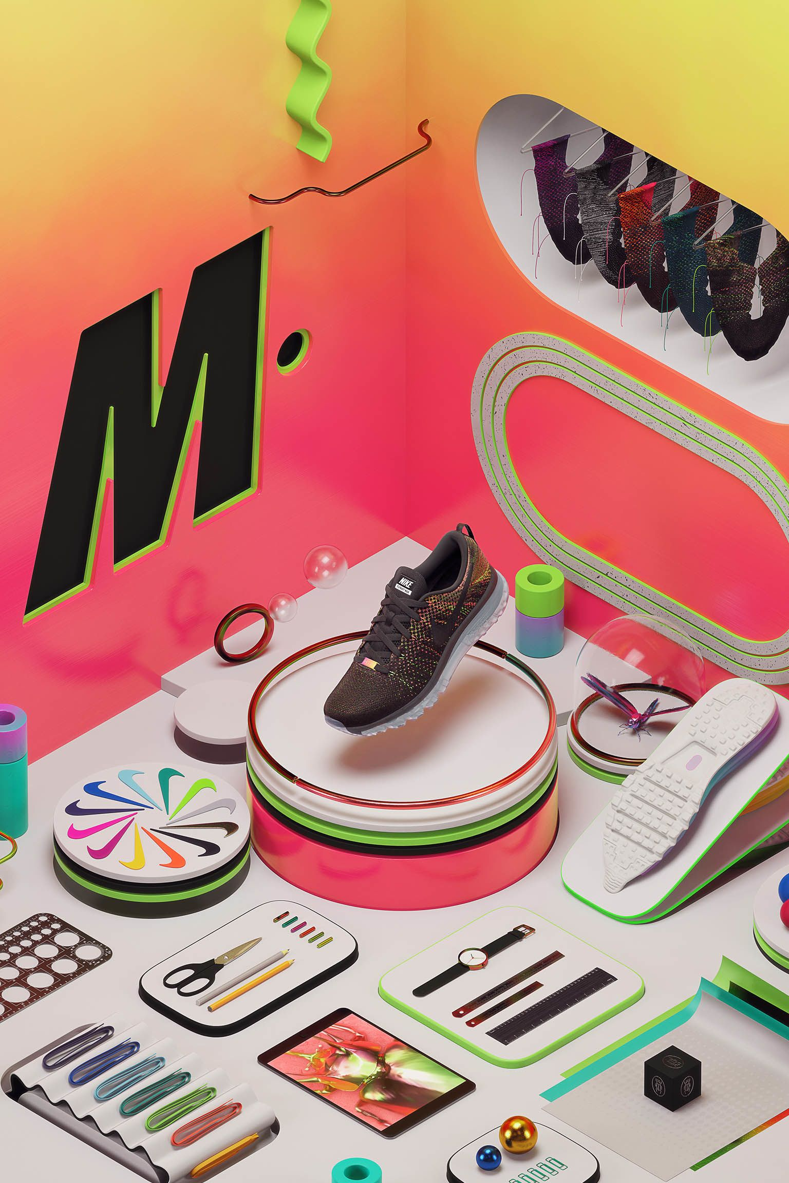 Nike Air Max 2014 Flyknit M iD 'Mark Parker'