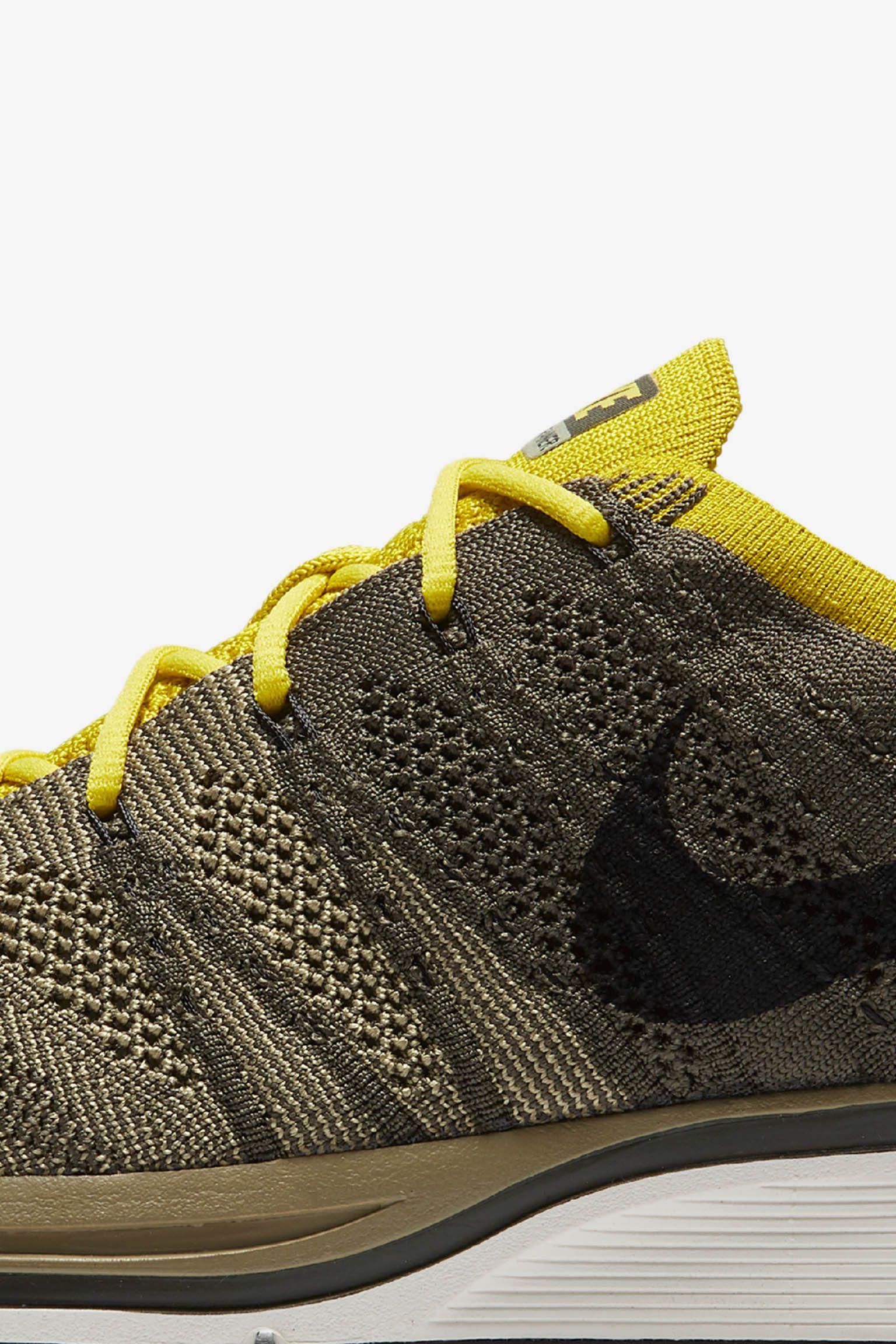Nike Flyknit Trainer 'Cargo Khaki & Bright Citron' Release Date