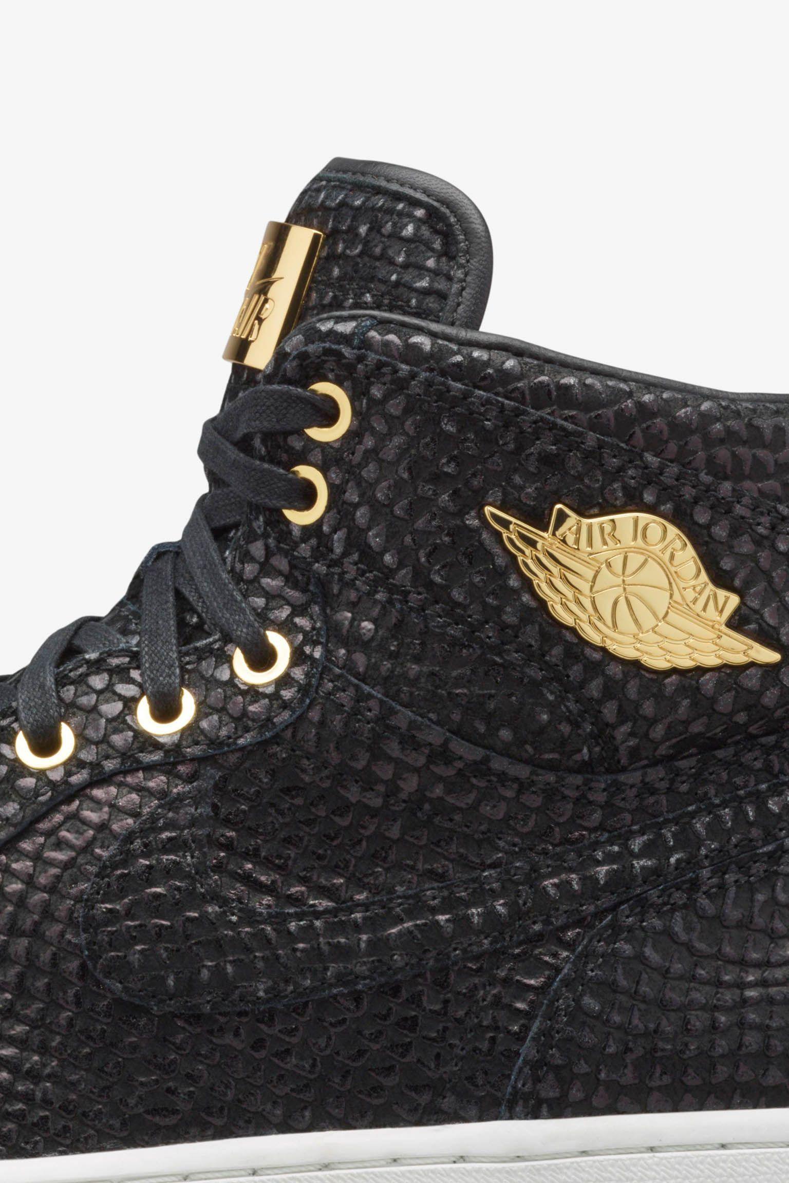 "Air Jordan 1 Retro Pinnacle ""Black & Metallic Gold"" – Erscheinungsdatum"