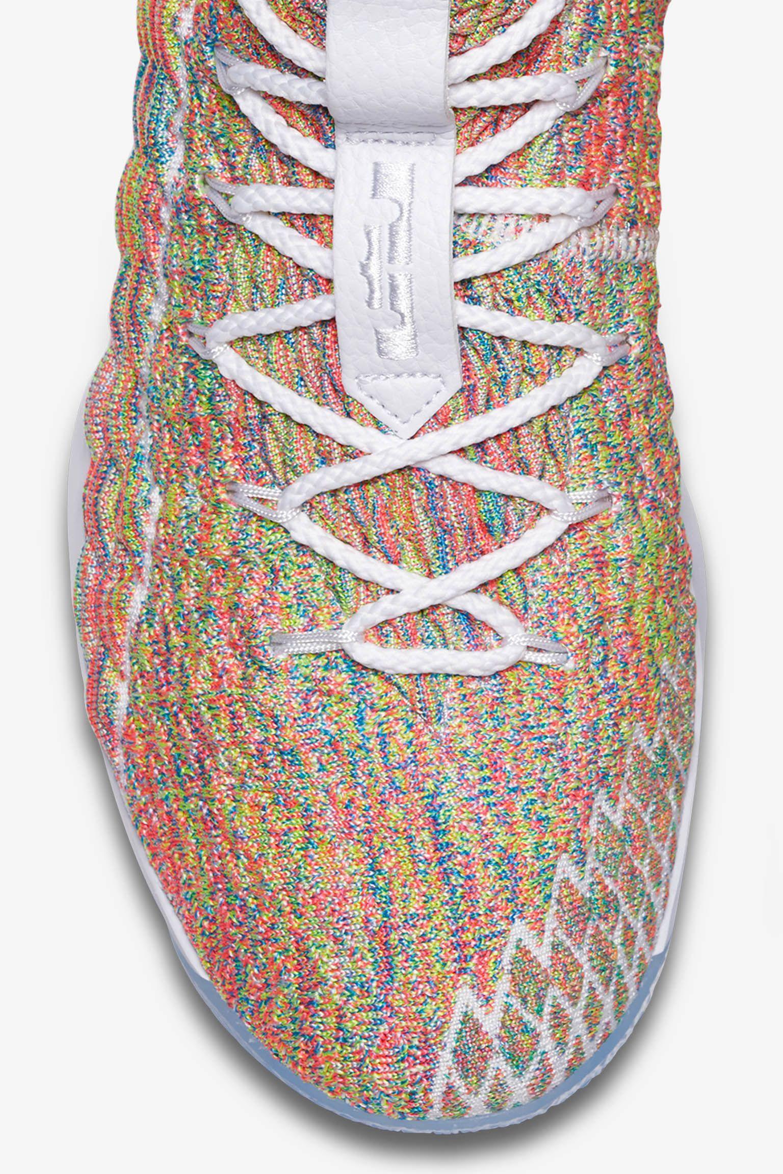 73588917e6c22b Nike LeBron 15  White  amp  Multicolour  Release Date. Nike+ Launch FI