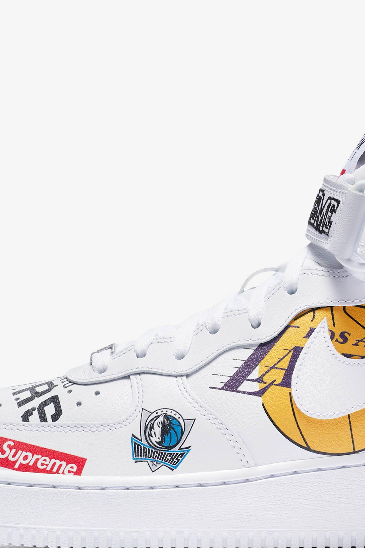 【NIKE公式】ナイキ エア フォース 1 MID シュプリーム NBA 'White' (AQ8017-100 / SF1)