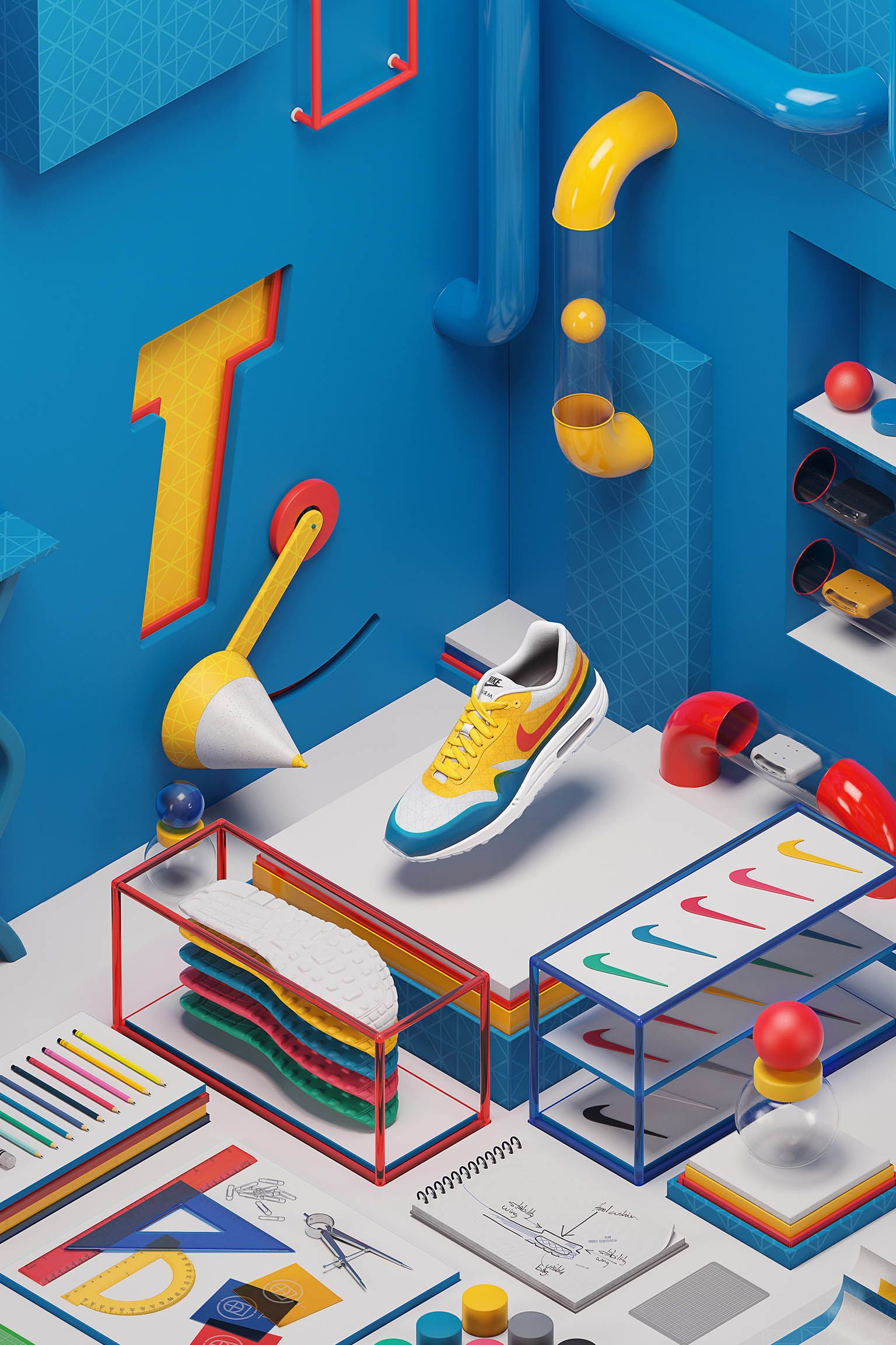 Nike Air Max 1 T iD 'Tinker Hatfield'