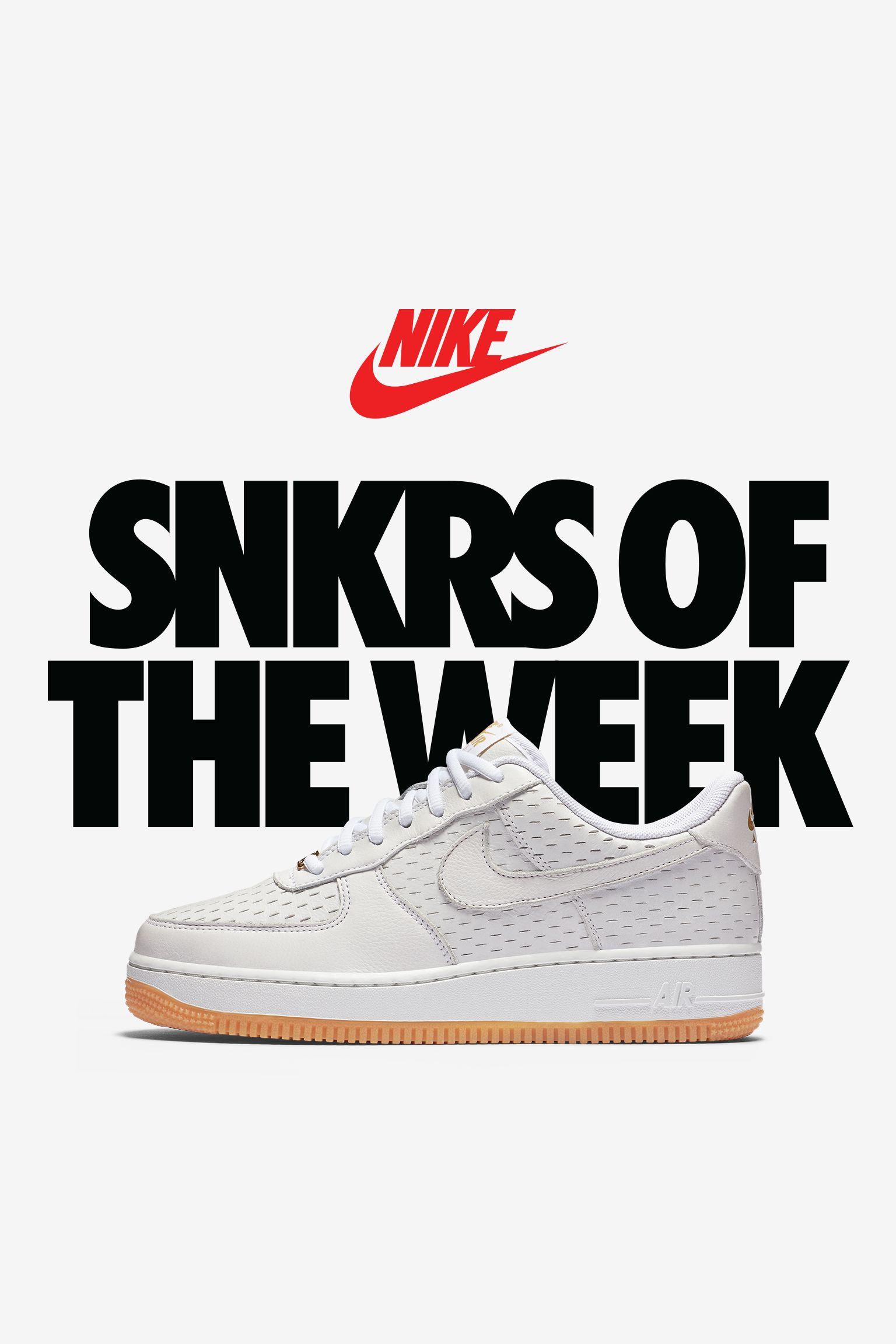 Women's Nike Air Force 1 'Summit White & Metallic Gold'