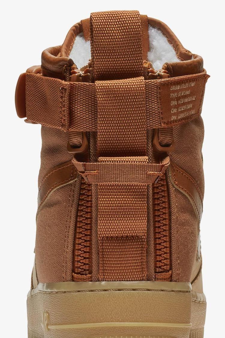 Nike SF Air Force 1 Mid Premium 'Praline & Gum Light Brown & Dark Russet' Release Date