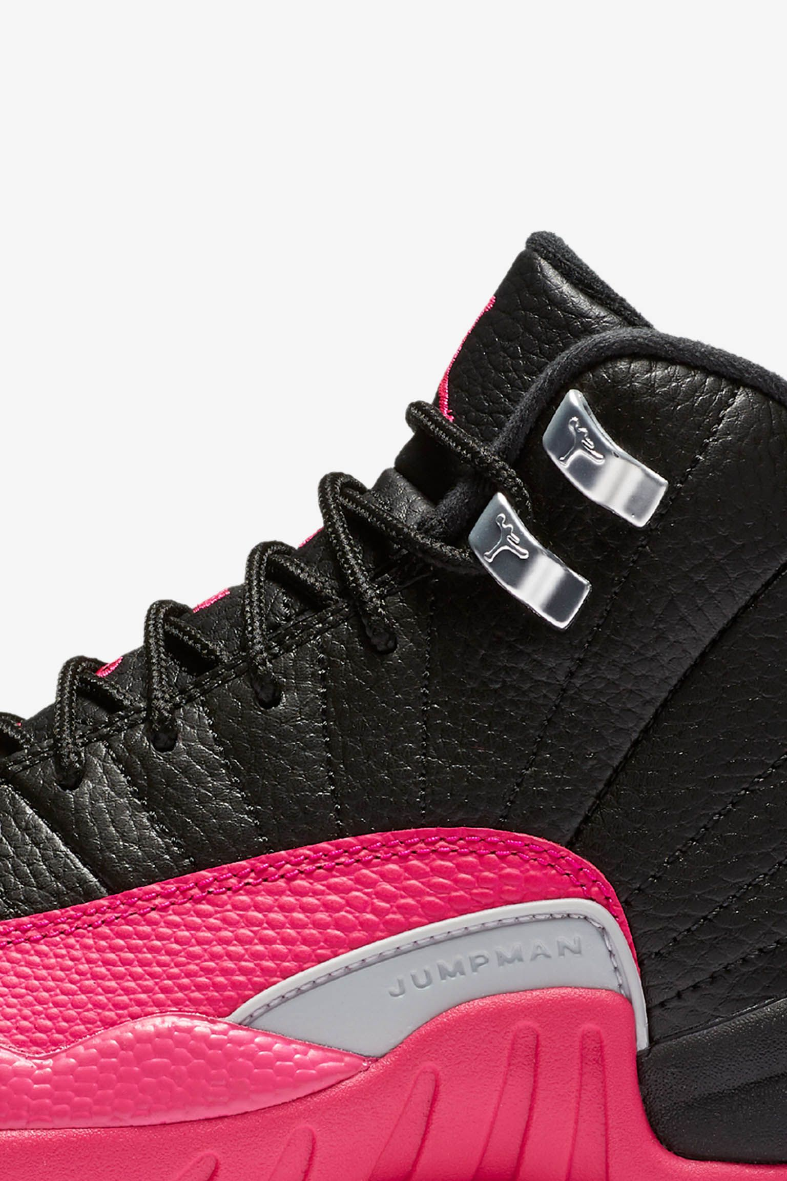Girls' Air Jordan 12 Retro 'Black & Deadly Pink' Release Date