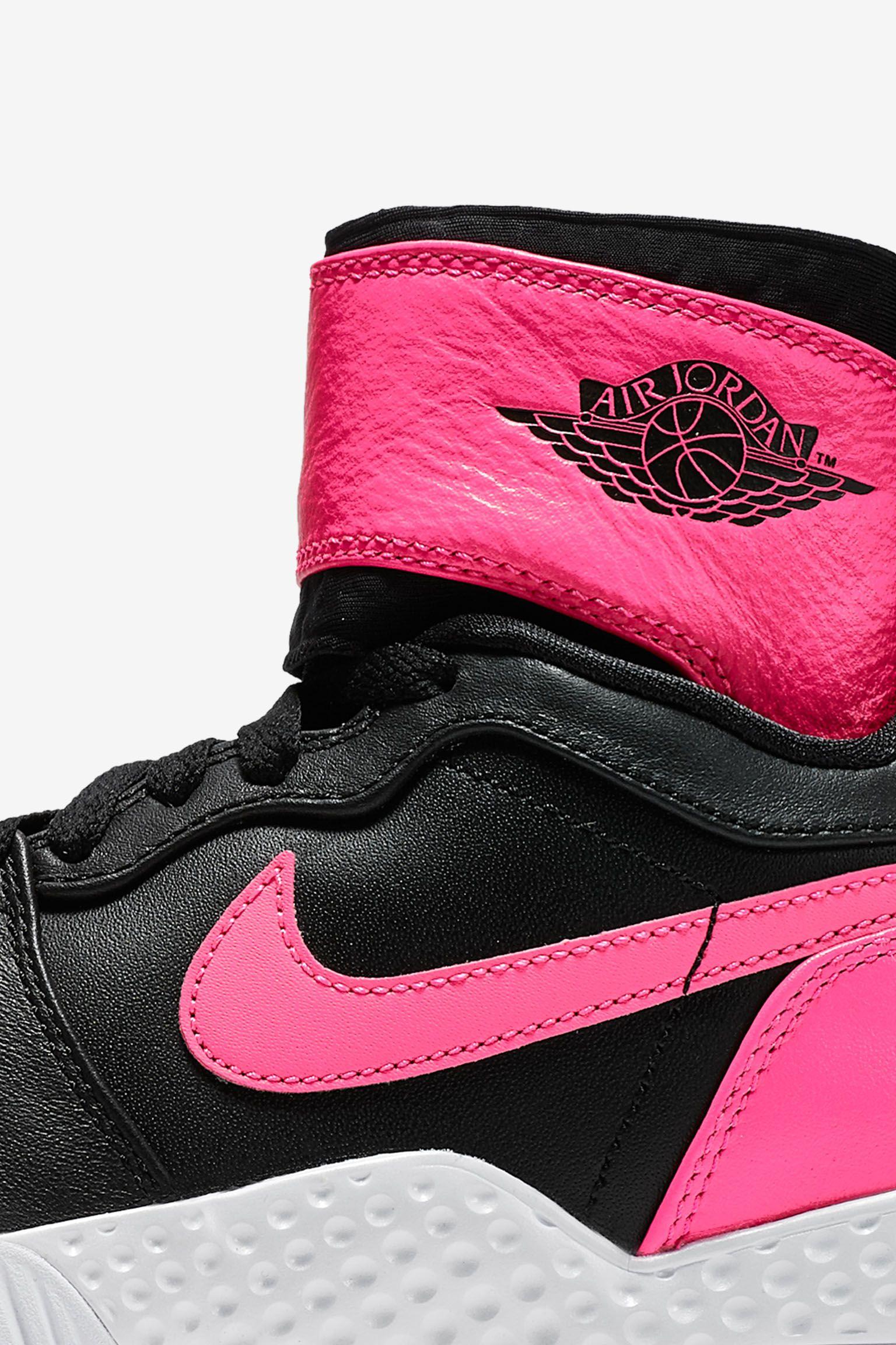 "Buty damskie NikeCourt Flare AJ1 ""Black & Hyper Pink"""