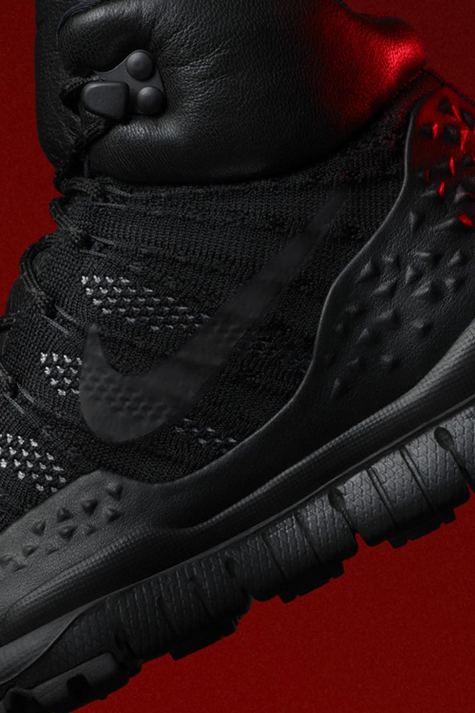 Women's Nike Lupinek Flyknit Sneakerboot 'Black & Anthracite'. Release Date