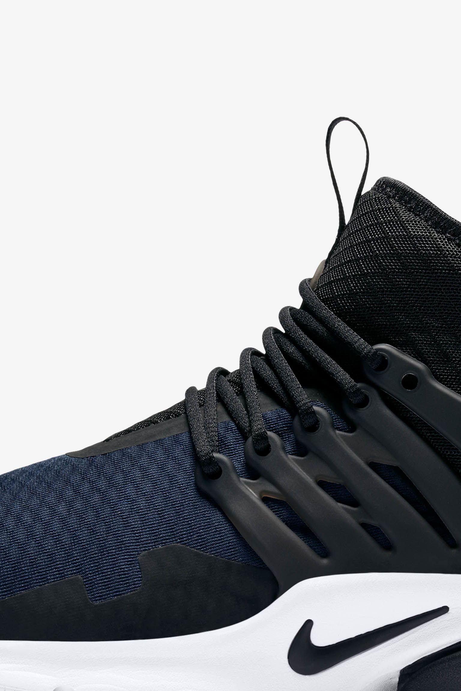 Nike Air Presto Mid Utility 'Black & Obsidian'