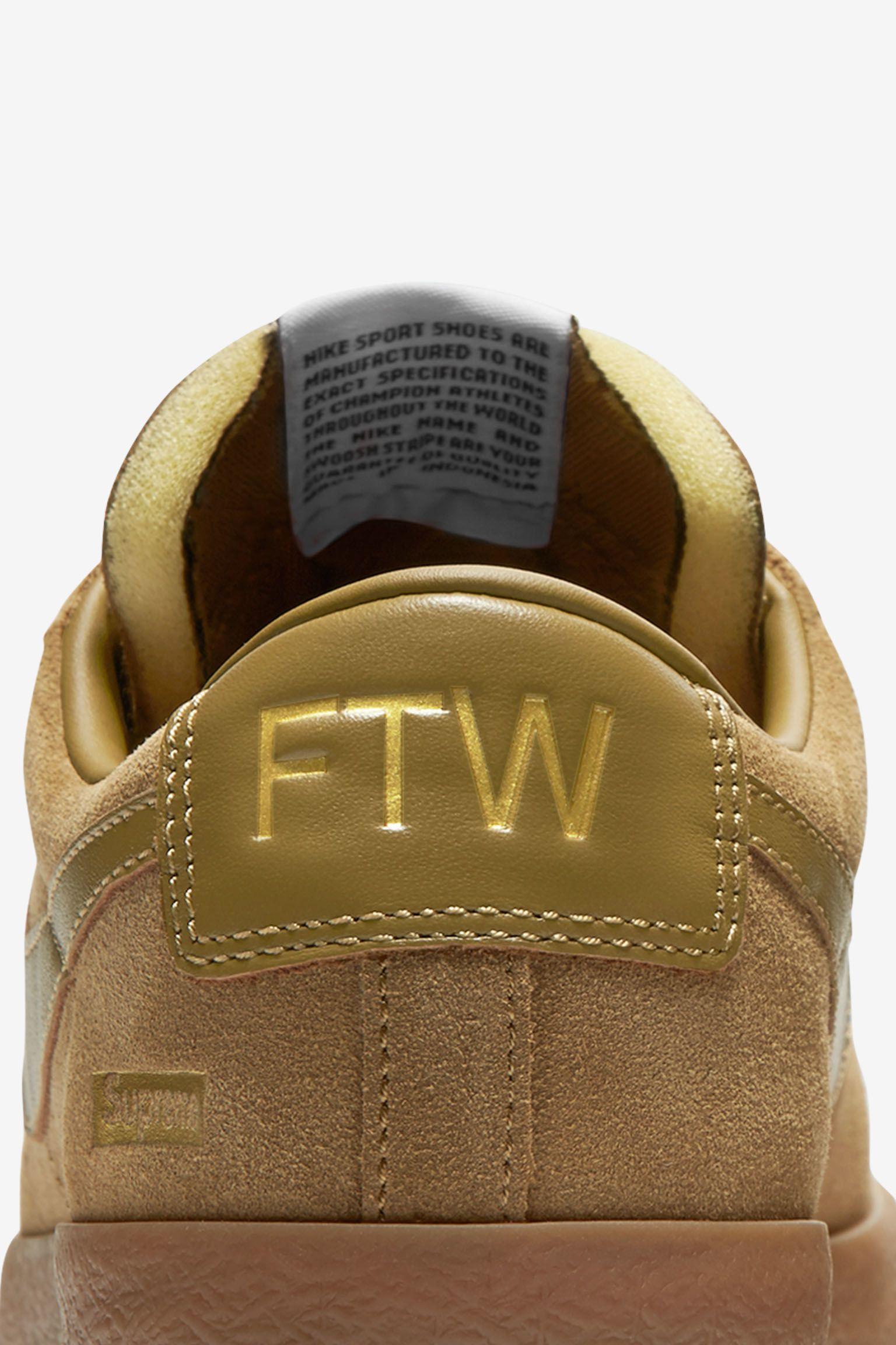 Nike Blazer Low GT x Supreme 'Golden Beige' Release Date