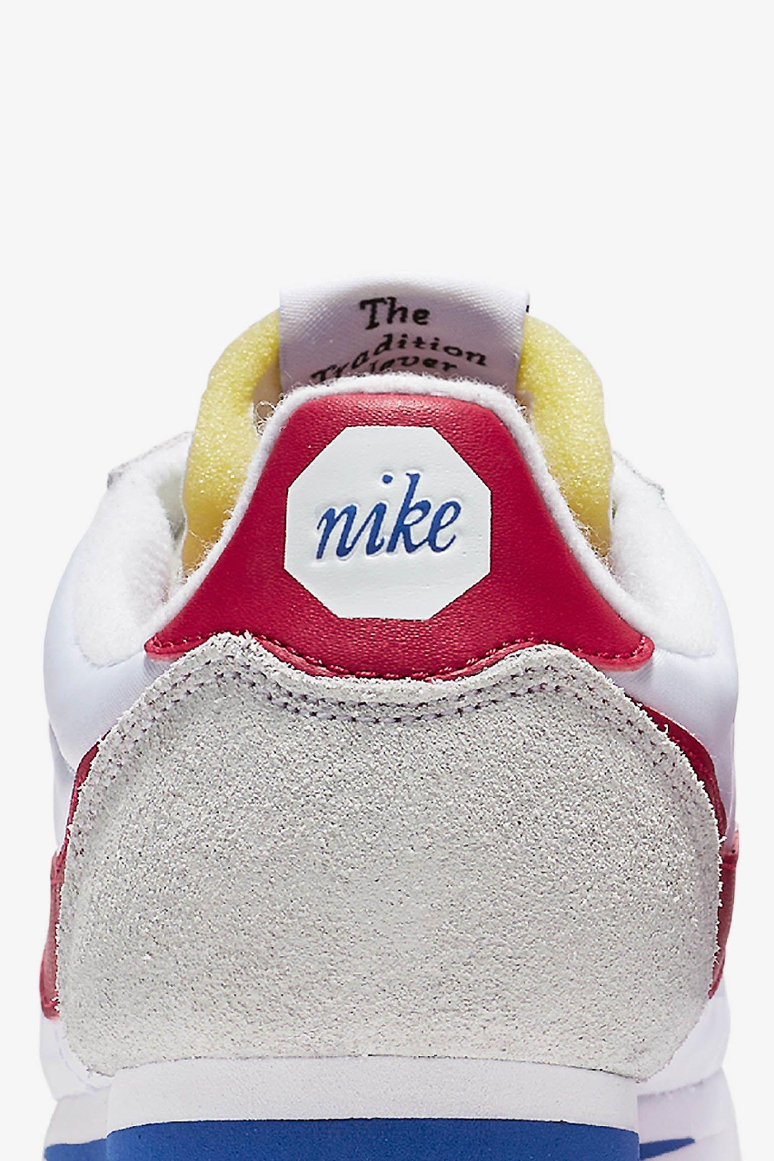 Nike Classic Cortez Premium 'White & Varsity Red'