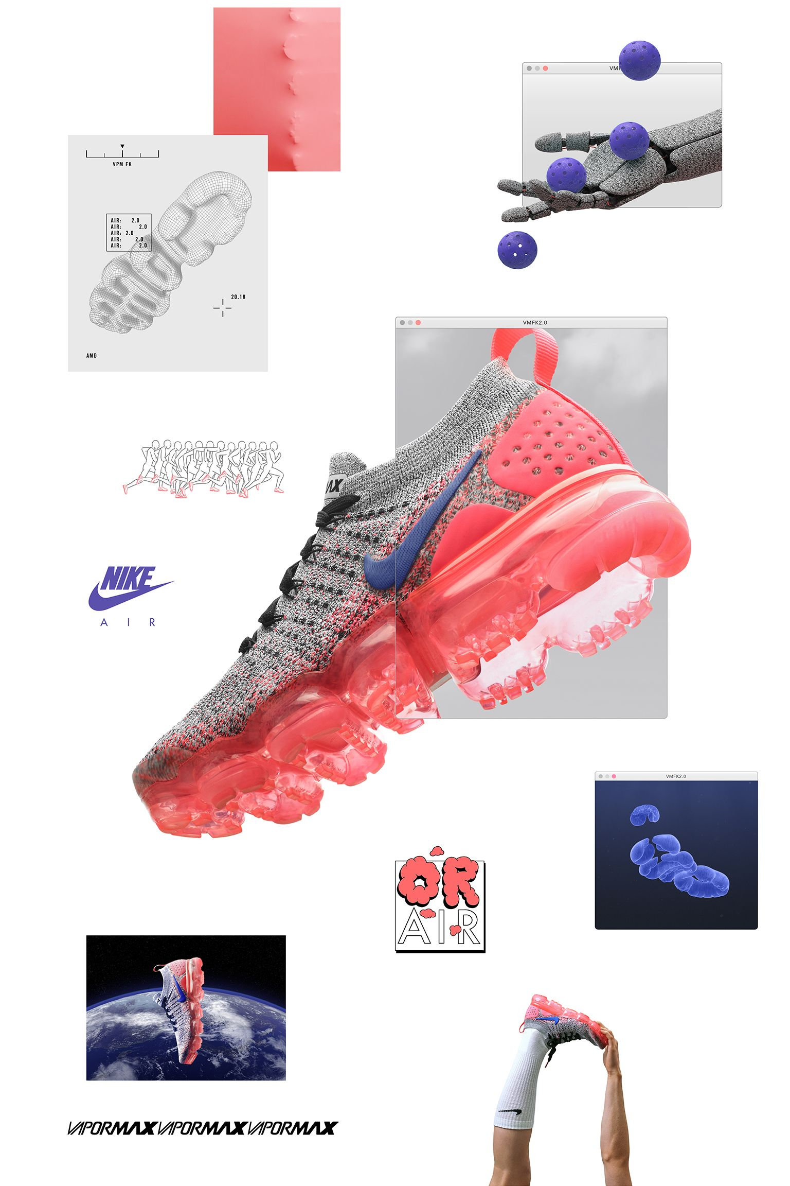 premium selection 039b2 88fd3 Nike Women's Air Vapormax Flyknit 2 'Ultramarine & Hot Punch ...