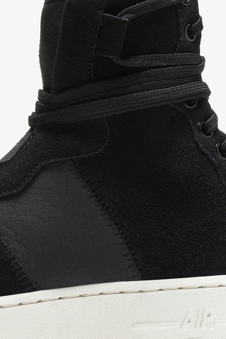 Nike Women's AF1 Rebel XX Premium 'Black & Sail' Release Date