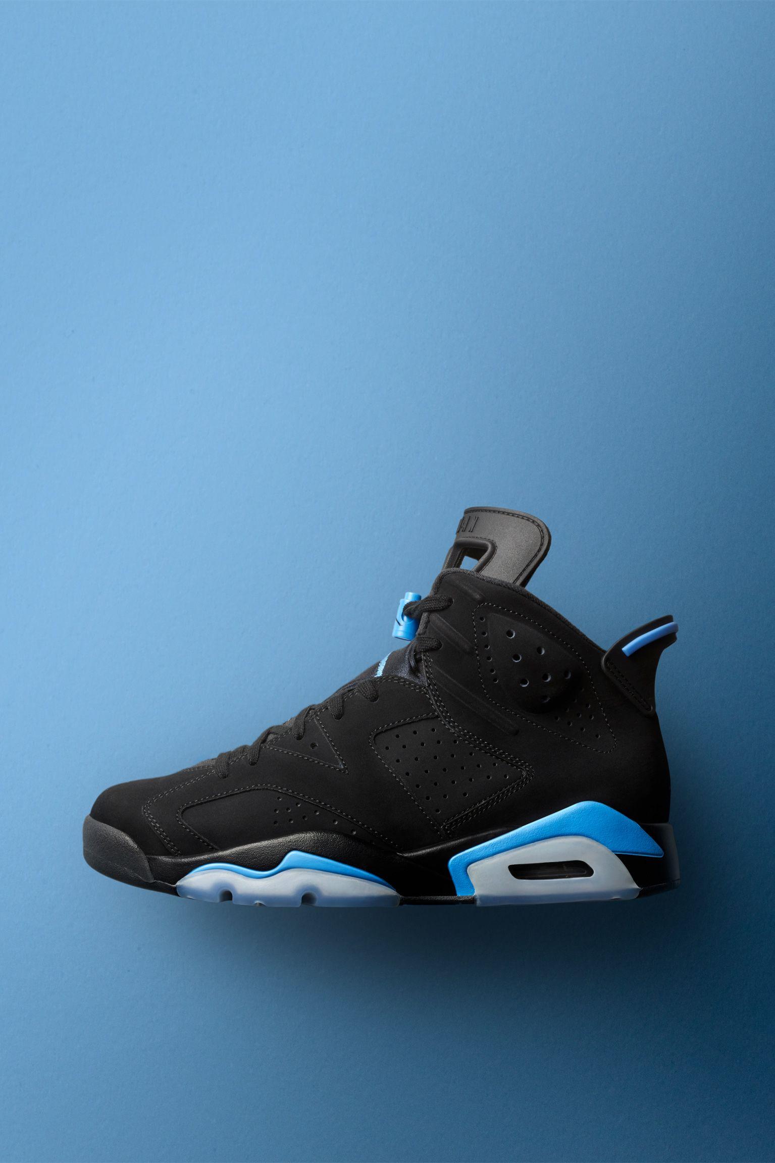 Air Jordan 6  Black   University Blue  Release Date. Nike+ SNKRS b1e1f04a60