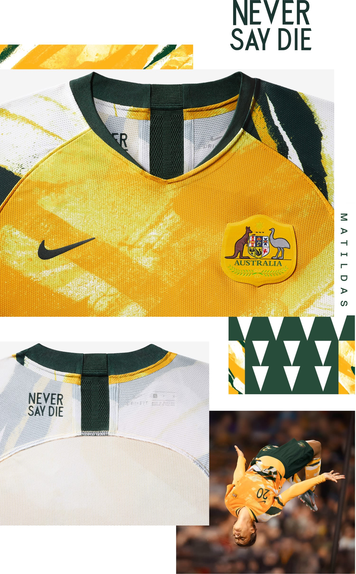 Australia 2019 Stadium Home Jersey