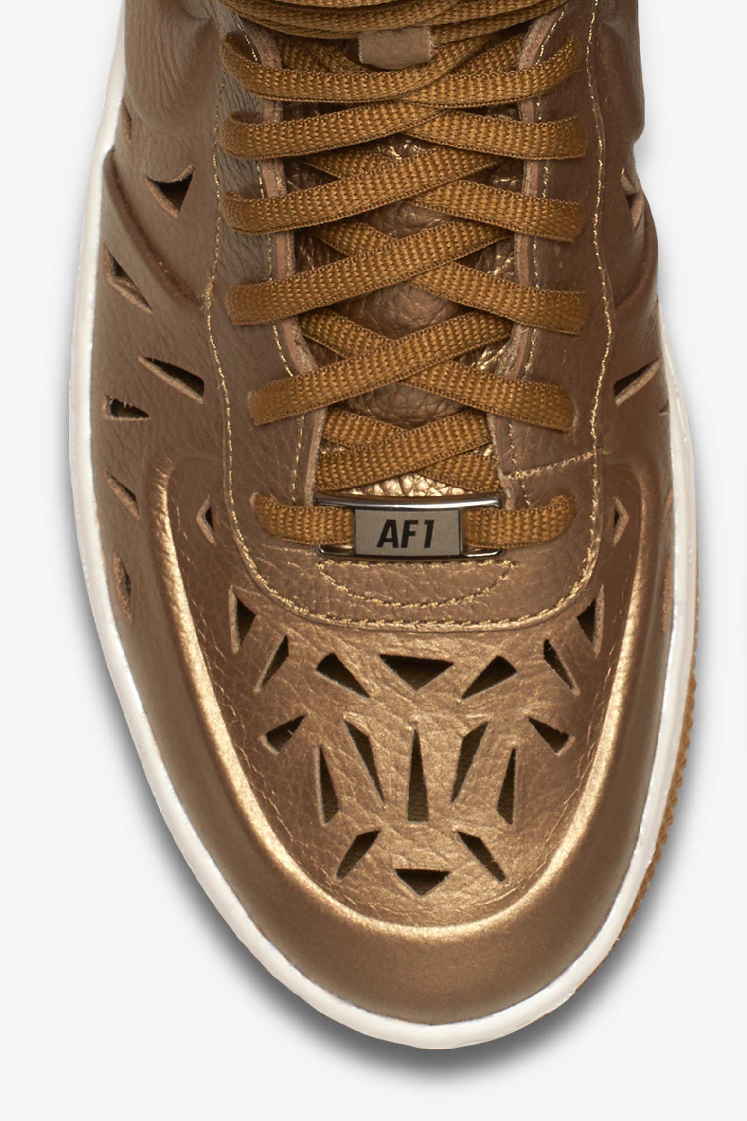 28bc5c568eaf74 ... Women s Nike Air Force 1 Ultra Mid Joli Metallic Golden Tan .