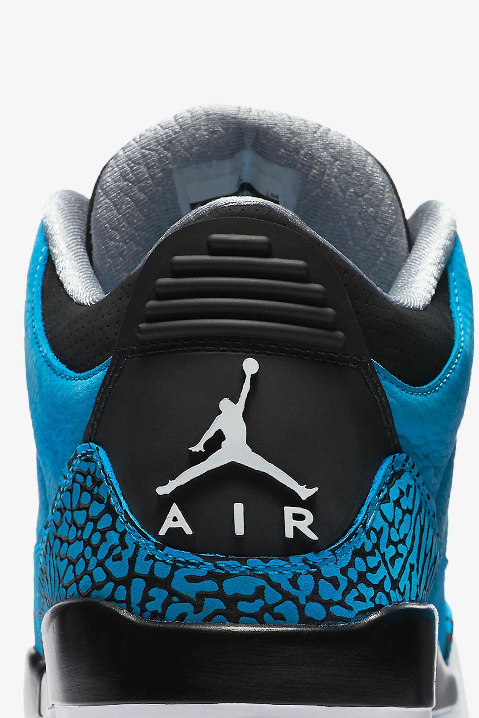 "Air Jordan 3 Retro ""Powder Blue"". Ημερομηνία κυκλοφορίας"