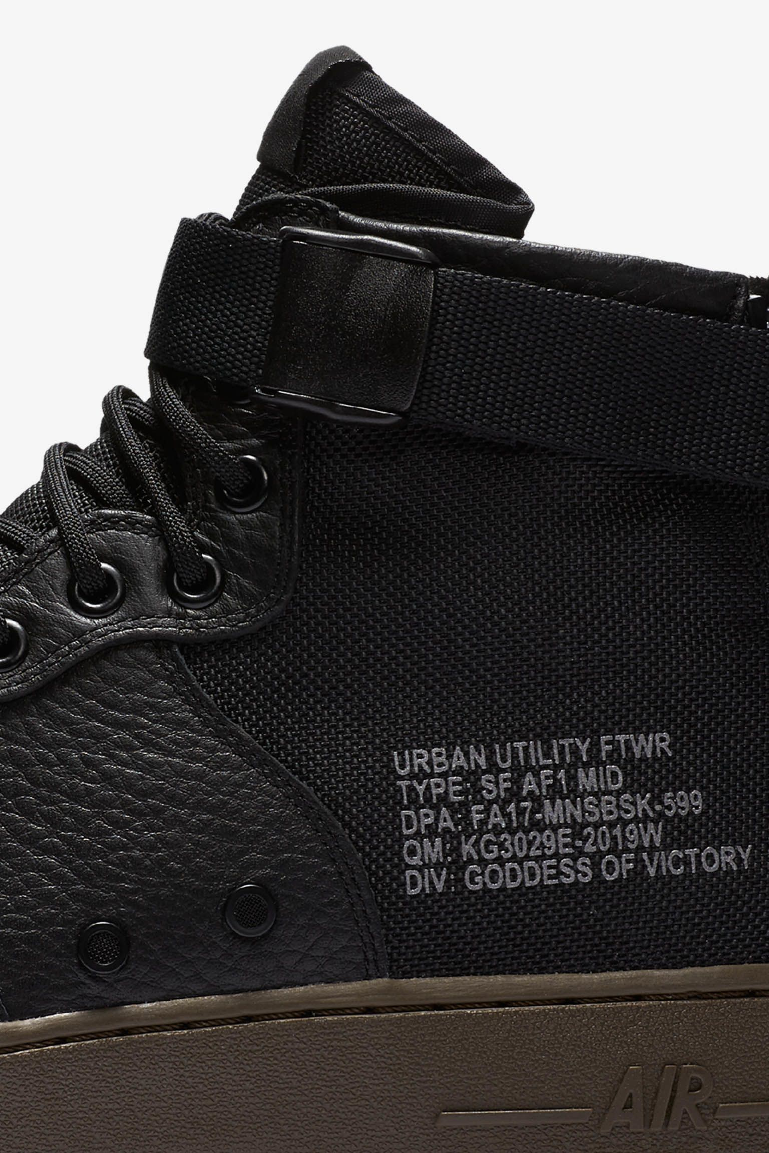 Nike SF AF-1 Mid 'Black & Dark Hazel'