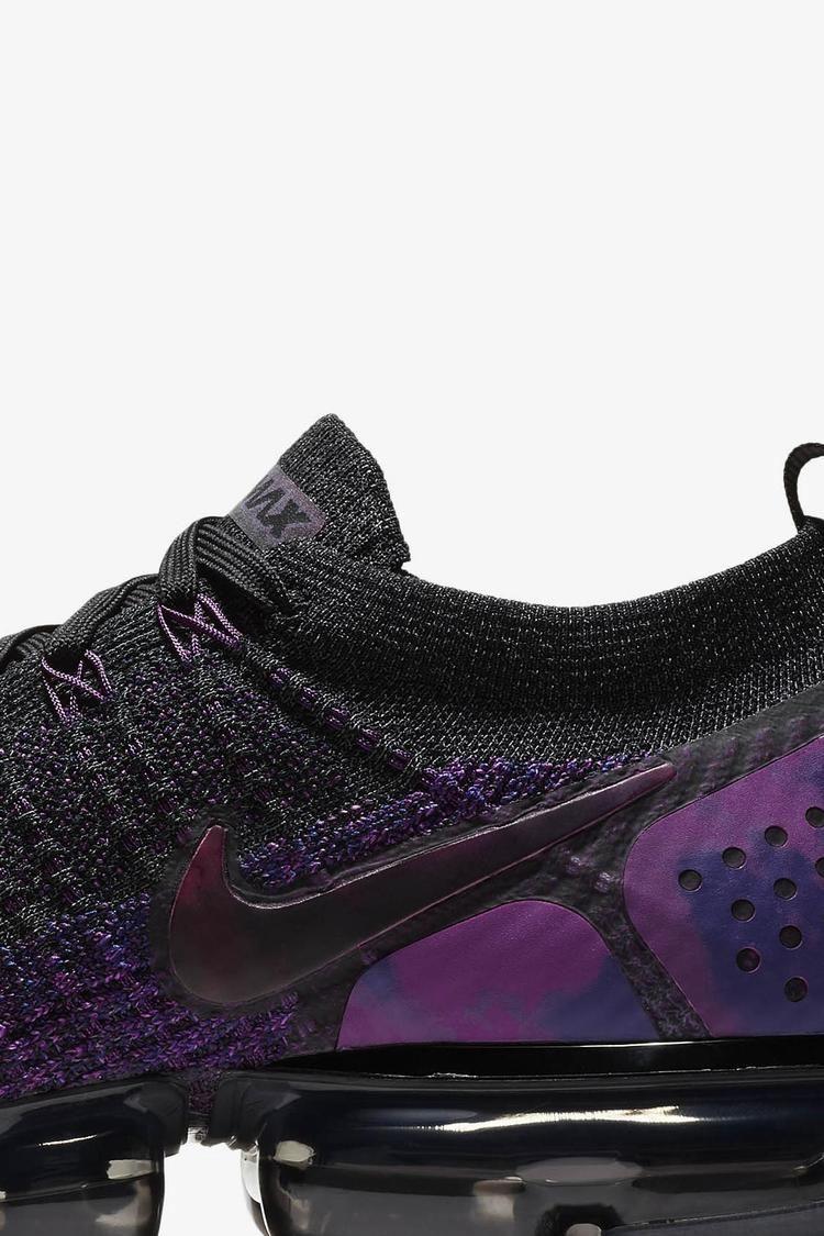 Nike Air Vapormax Flyknit 2 'Black & Vivid Purple & Night Purple' Release Date