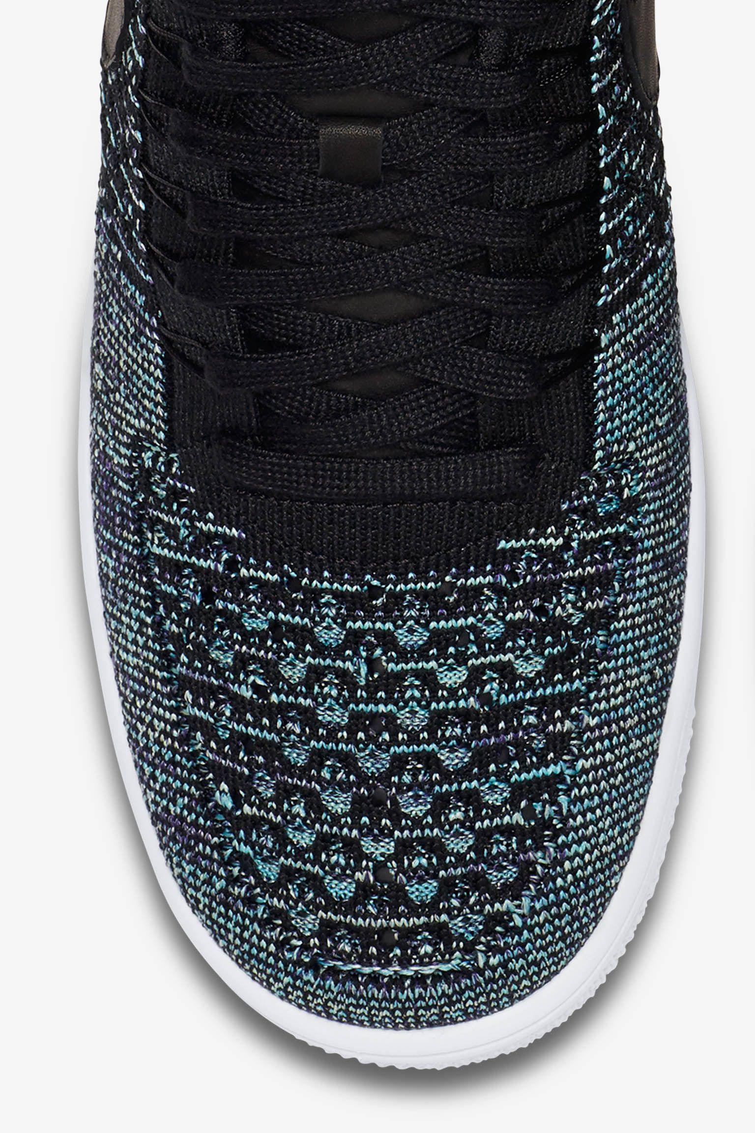 Nike Air Force 1 Low Flyknit 'vapor green a černá'