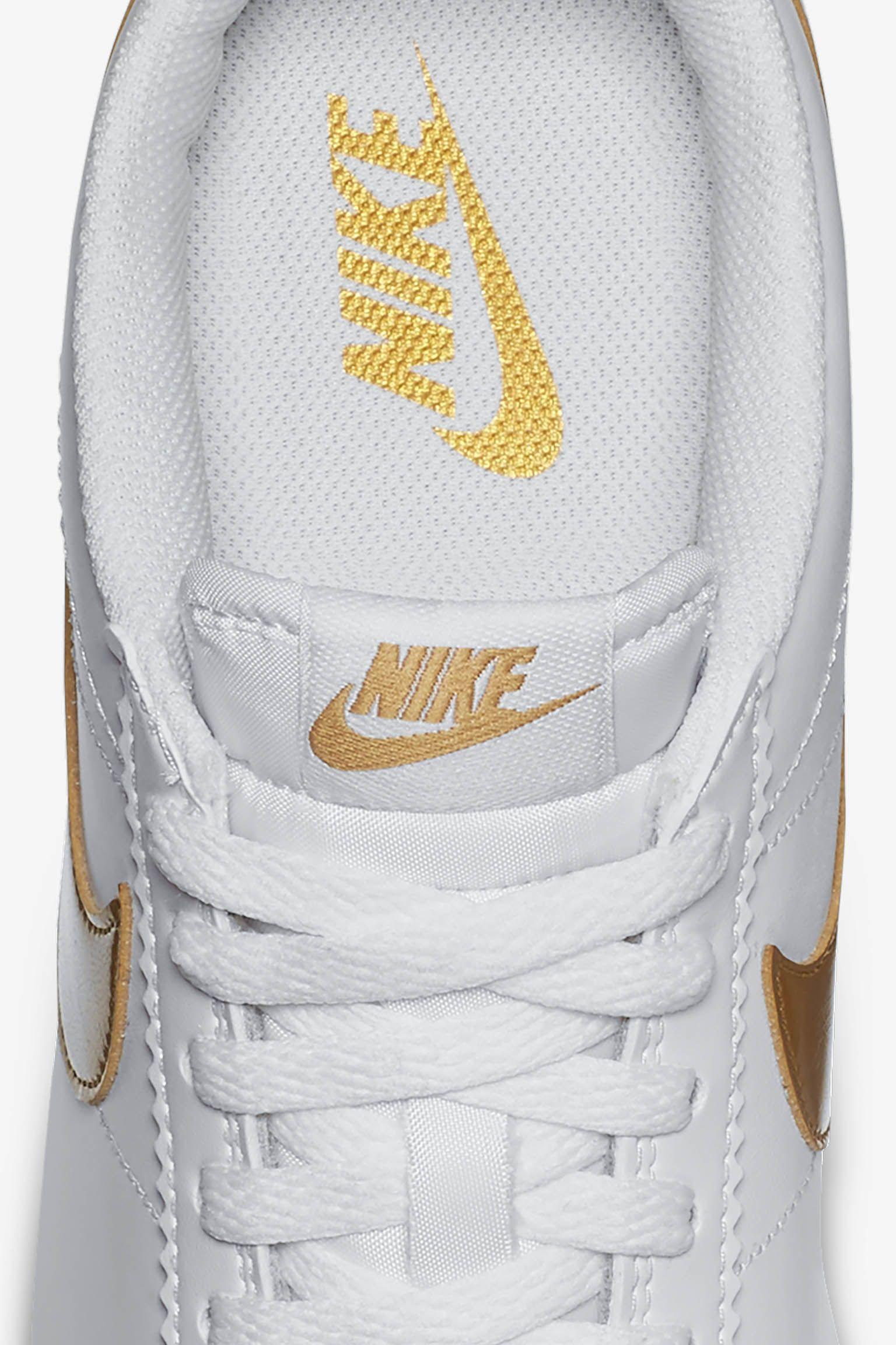 Women's Nike Classic Cortez 'White & Metallic Gold'