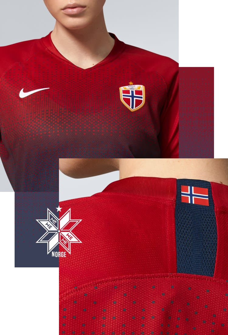 2019 Norway National Team Stadium Home Jersey