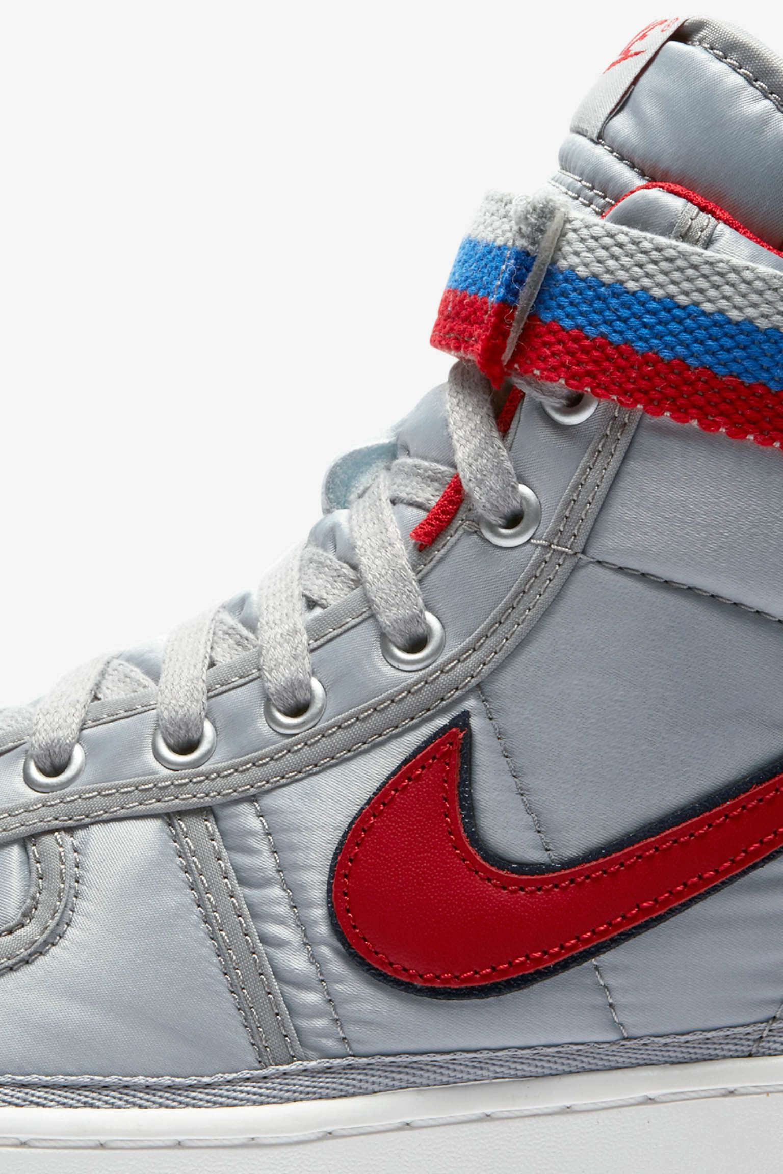 Nike Vandal High 'Metallic Silver & University Red' Release Date.