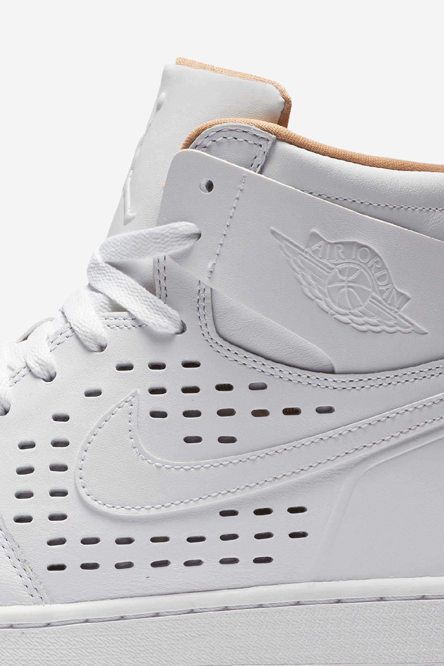 Air Jordan 1 Retro 'Engineered Perf' White Release Date