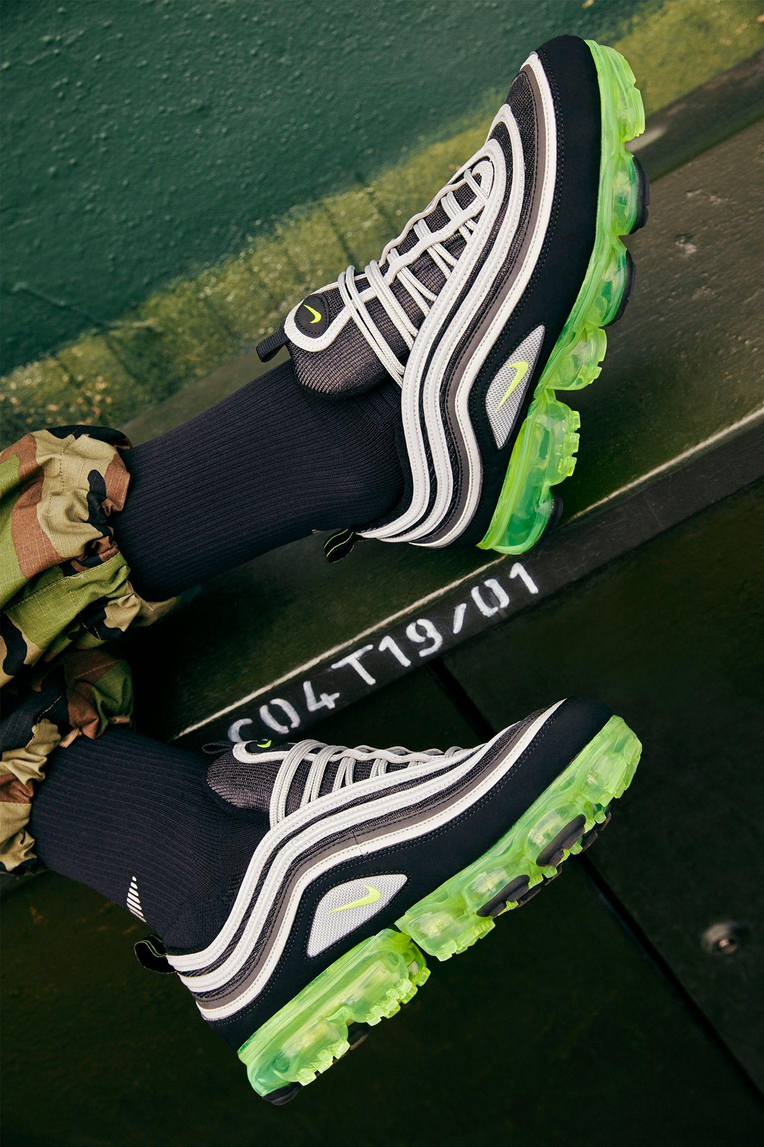 Nike Air Vapormax 97 'Black & Volt & Metallic Silver' Release Date
